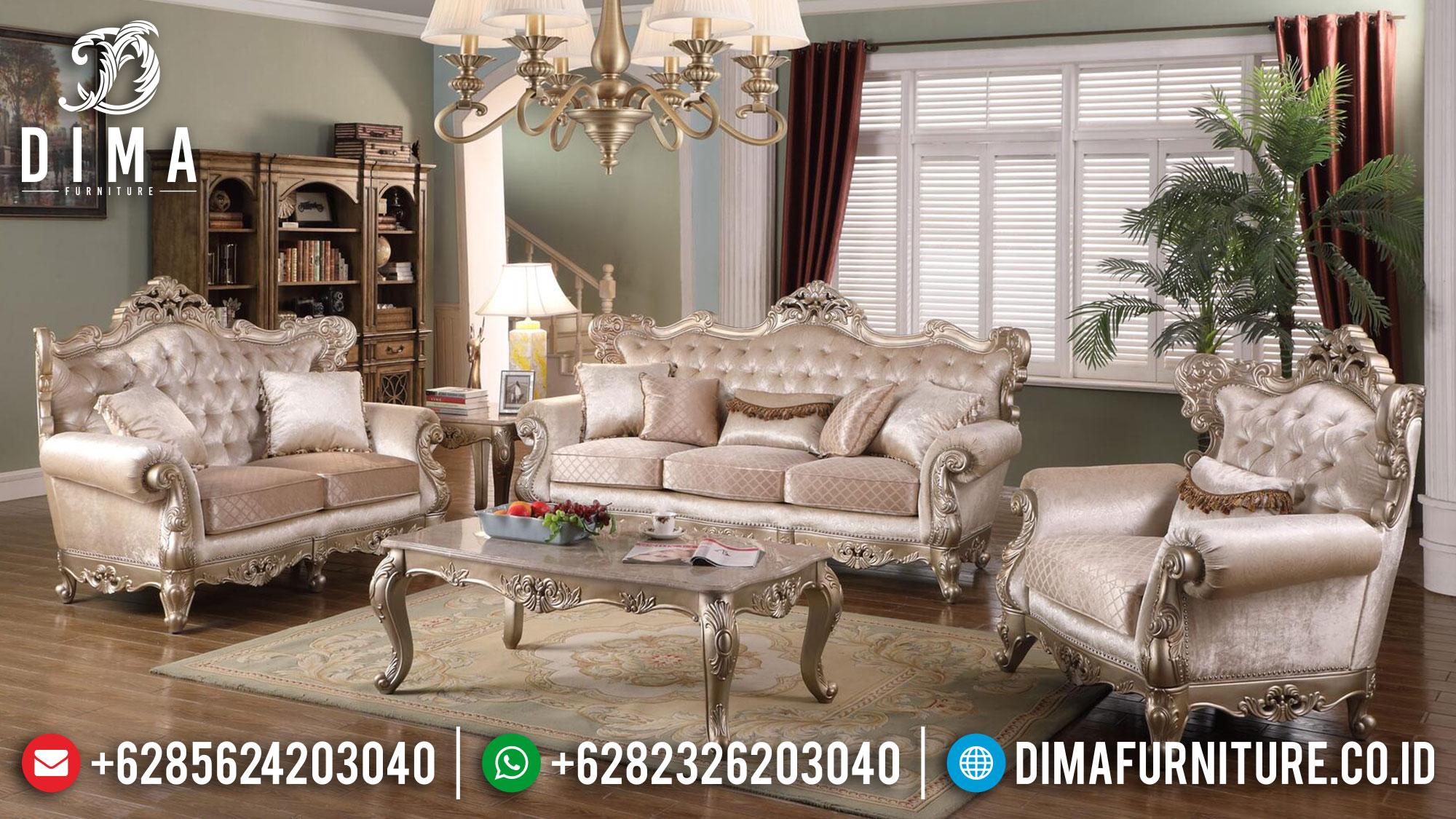 Elegant Style Sofa Tamu Mewah Terbaru Luxury Classic Jepara TTJ-1487