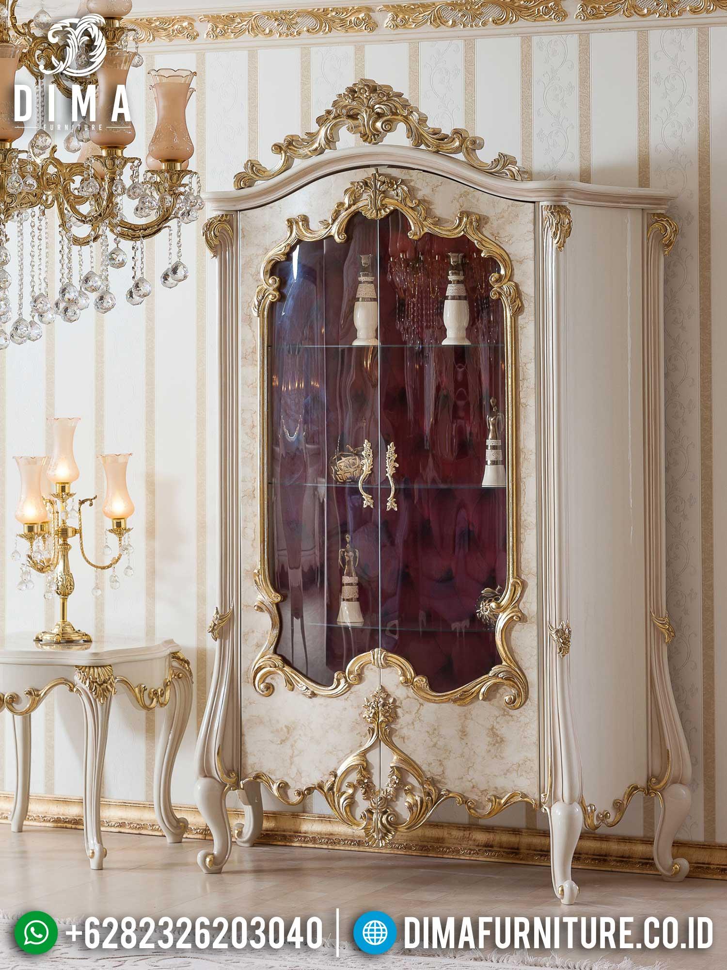 Harga Lemari Hias Mewah Jepara Luxury Color Combination Art Duco Terbaru TTJ-1397