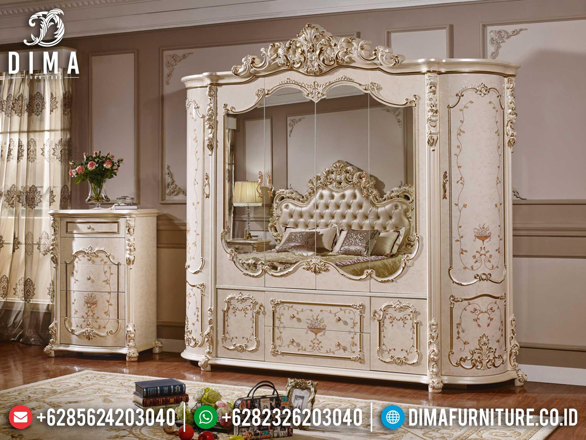 Harga Lemari Pakaian Ukiran Mewah Terbaru Luxury Elegant Design Jepara TTJ-1407