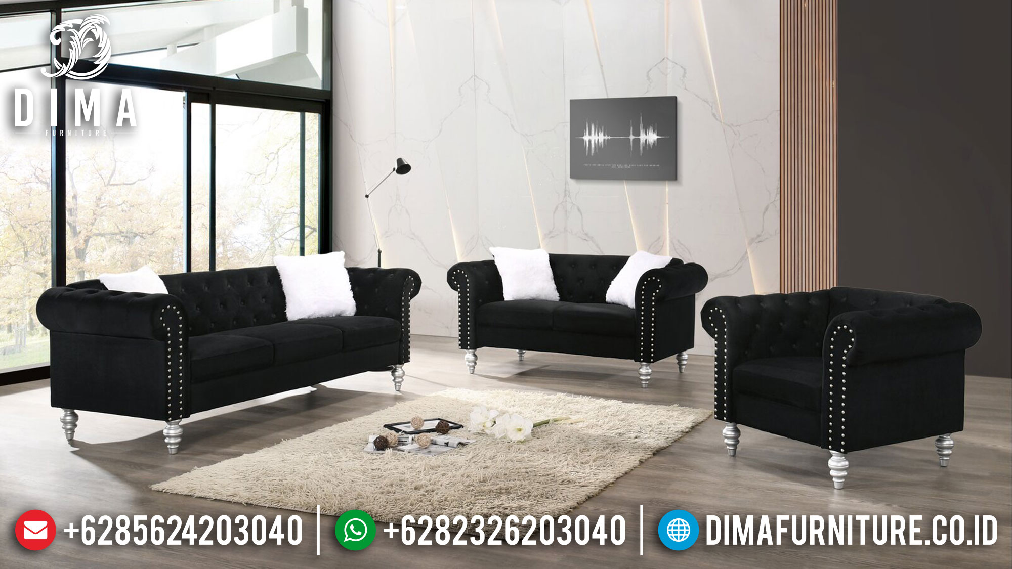 Jual Sofa Tamu Minimalis Luxury Design Furniture Jepara Royals Classic Ttj-1484