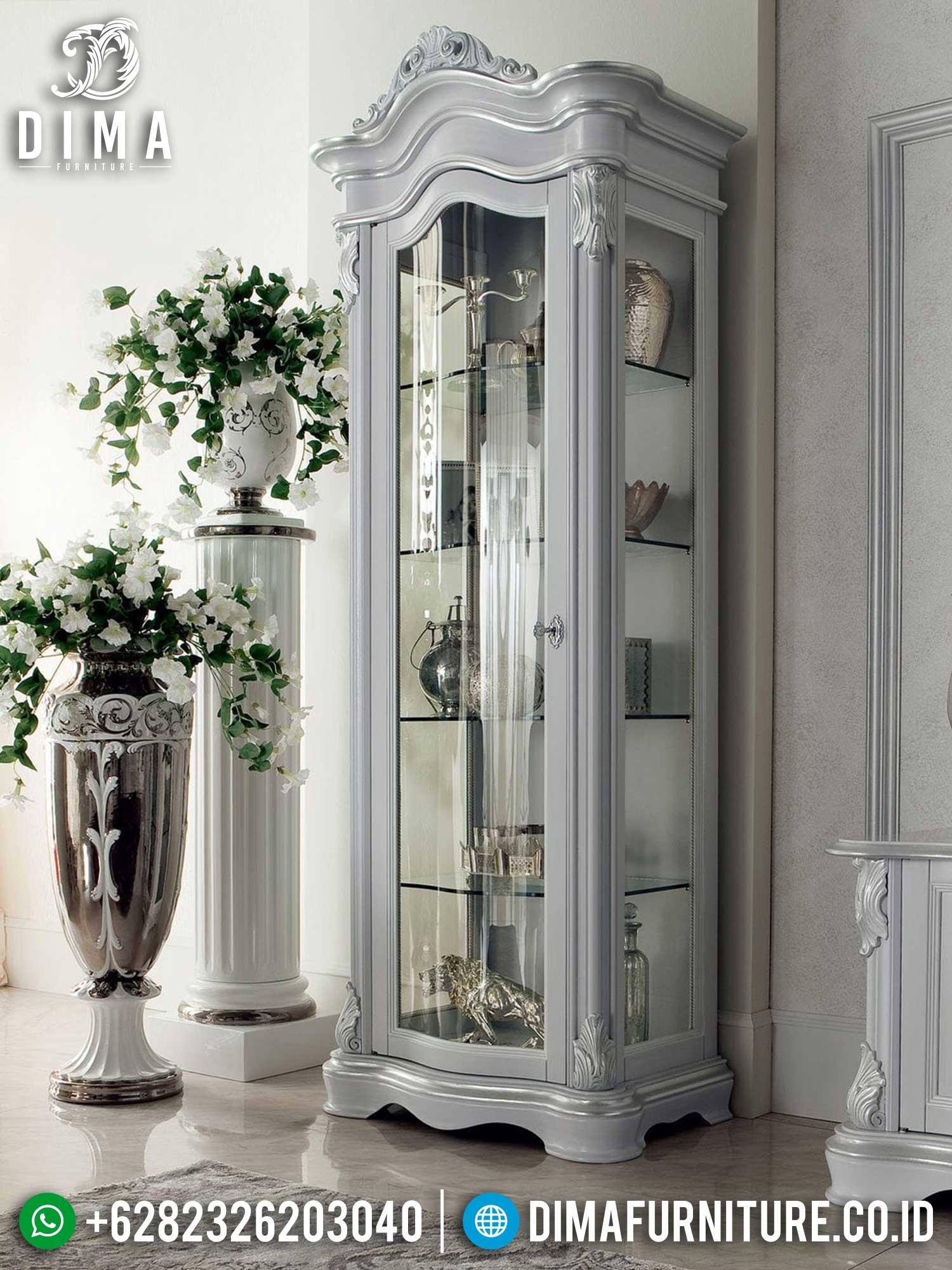 Lemari Hias Mewah Keren Luxury Set New Furniture Jepara Item TTJ-1462