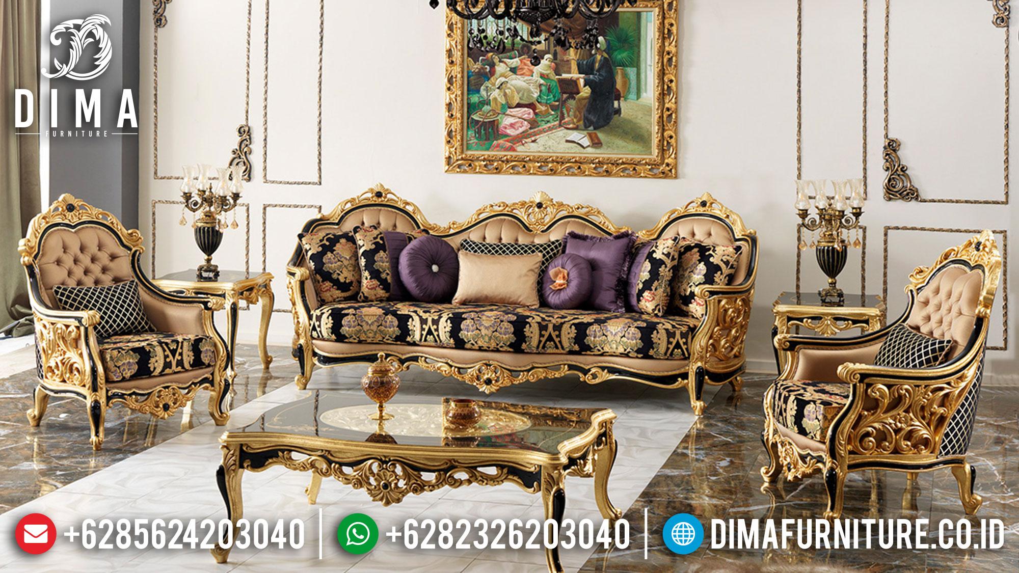 Maxwell Style Sofa Tamu Jepara Luxury Design Classic High Quality TTJ-1495