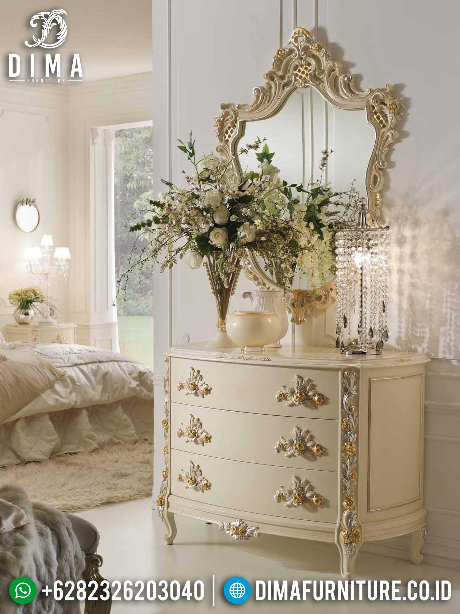 Meja Konsol Mewah Putih Classic Luxury Duco Color Combination TTJ-1392