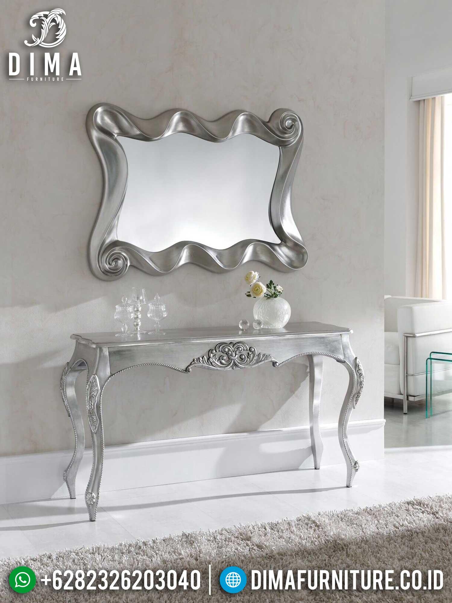 Meja Konsul Mewah Jepara Elegant Silver Color Luxury Classic Furniture TTJ-1445
