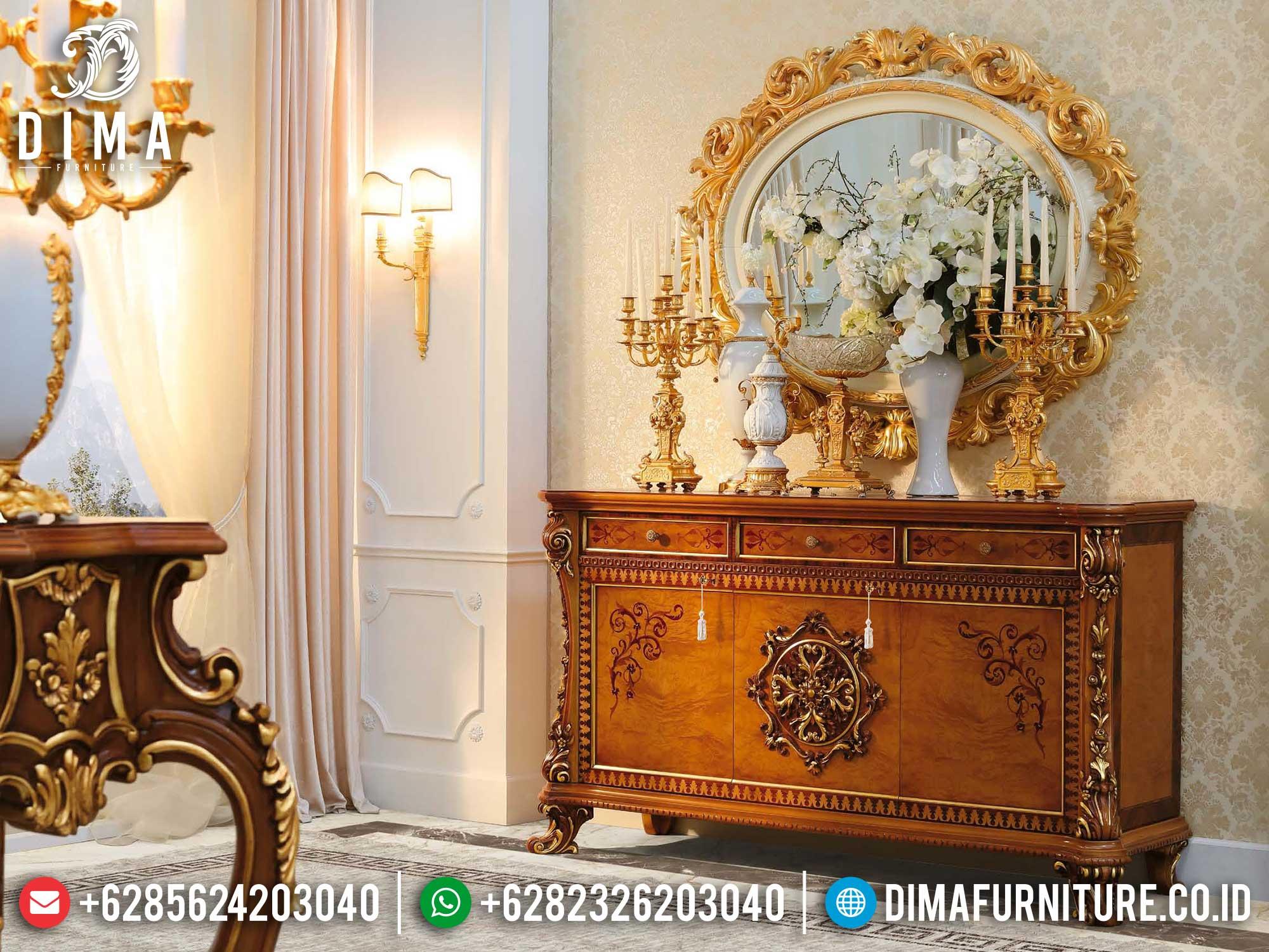 Meja Konsul Mewah Kayu Jati Natural Luxury Color Combination TTJ-1404