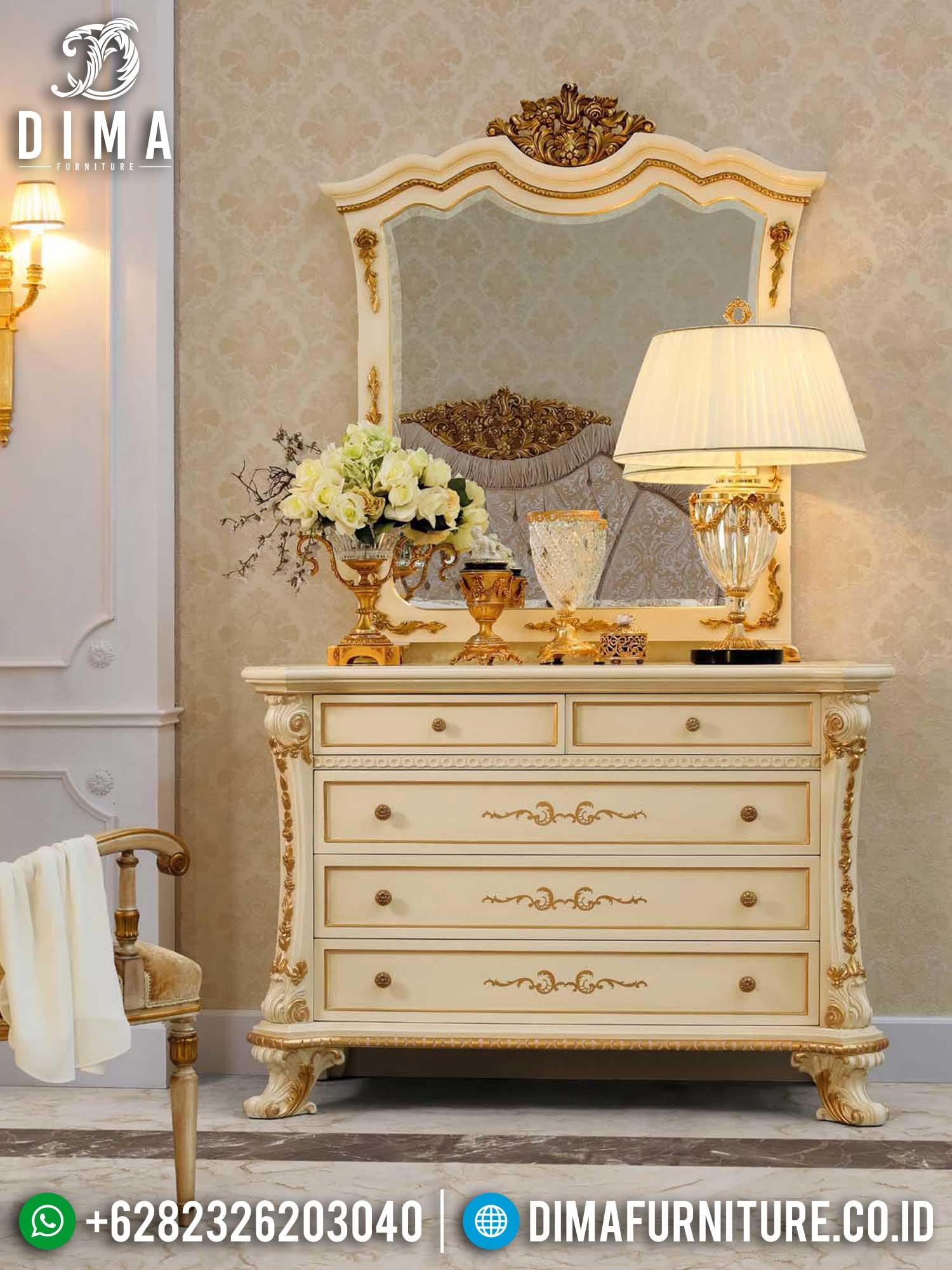 Meja Konsul Mewah Terbaru Luxury Carving Golden Combination Best Seller TTJ-1389