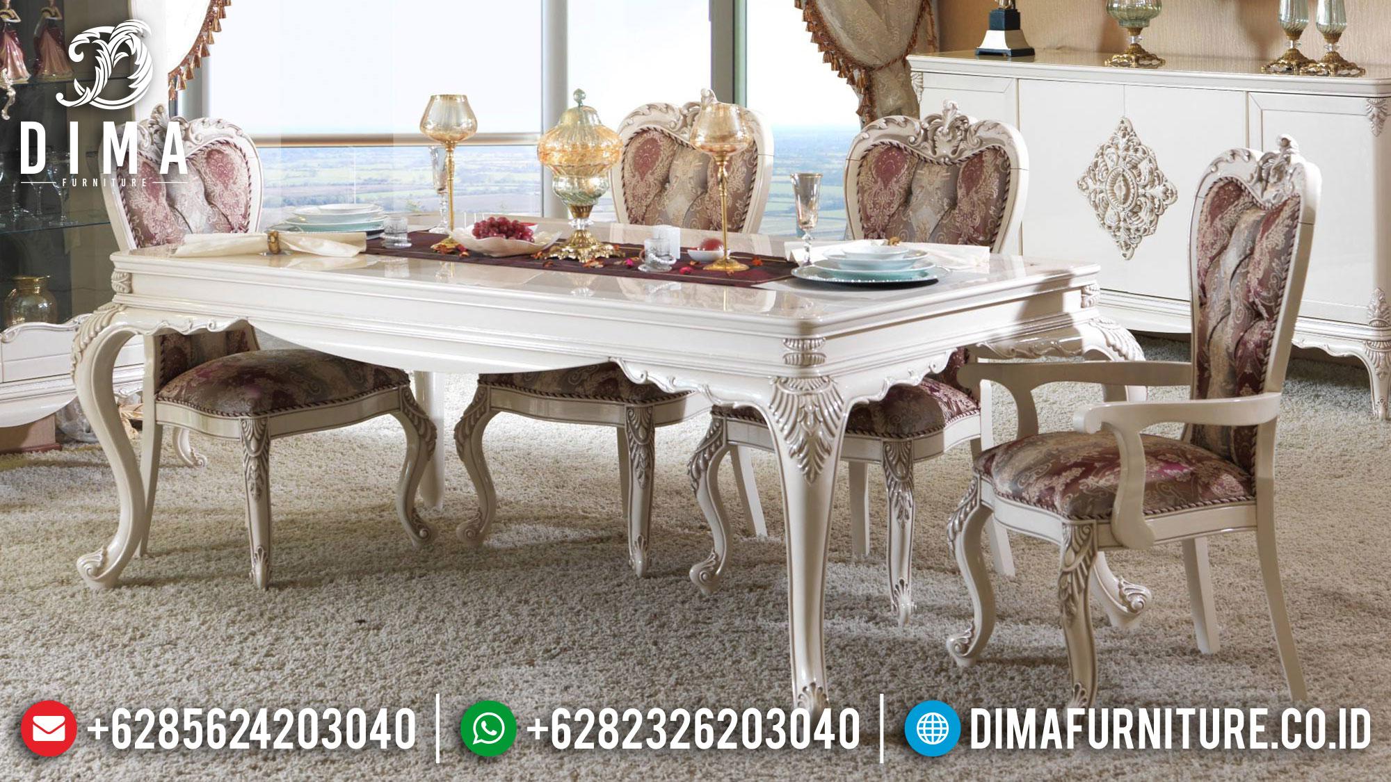 Meja Makan Mewah Jepara Turkish Style Luxury Carving Terbaru TTJ-1370