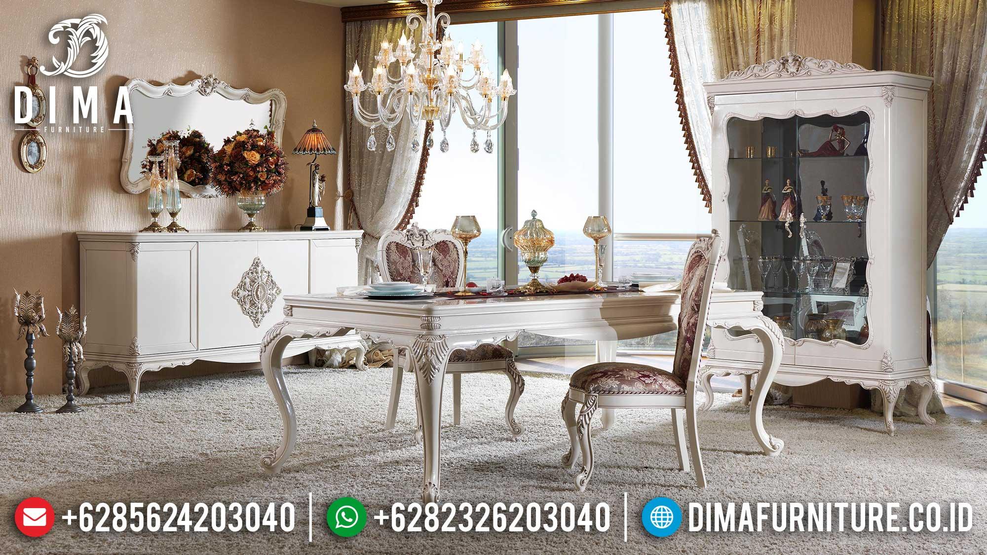 Meja Makan Mewah Terbaru New Design Luxury Carving Jepara Berkualitas TTJ-1377