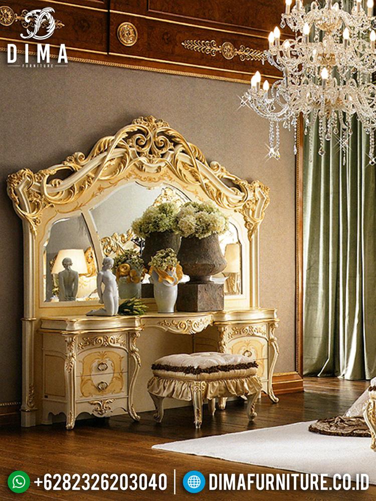 Meja Rias Mewah Diana Princes Luxury Golden Light Classic Premiere TTJ-1430
