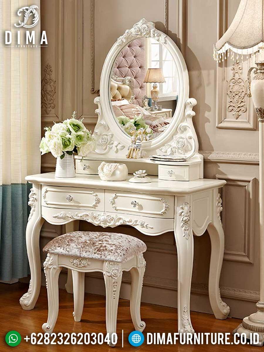 Meja Rias Mewah Minimalis Fiona Glorious Design Luxury Classic Jepara TTJ-1420