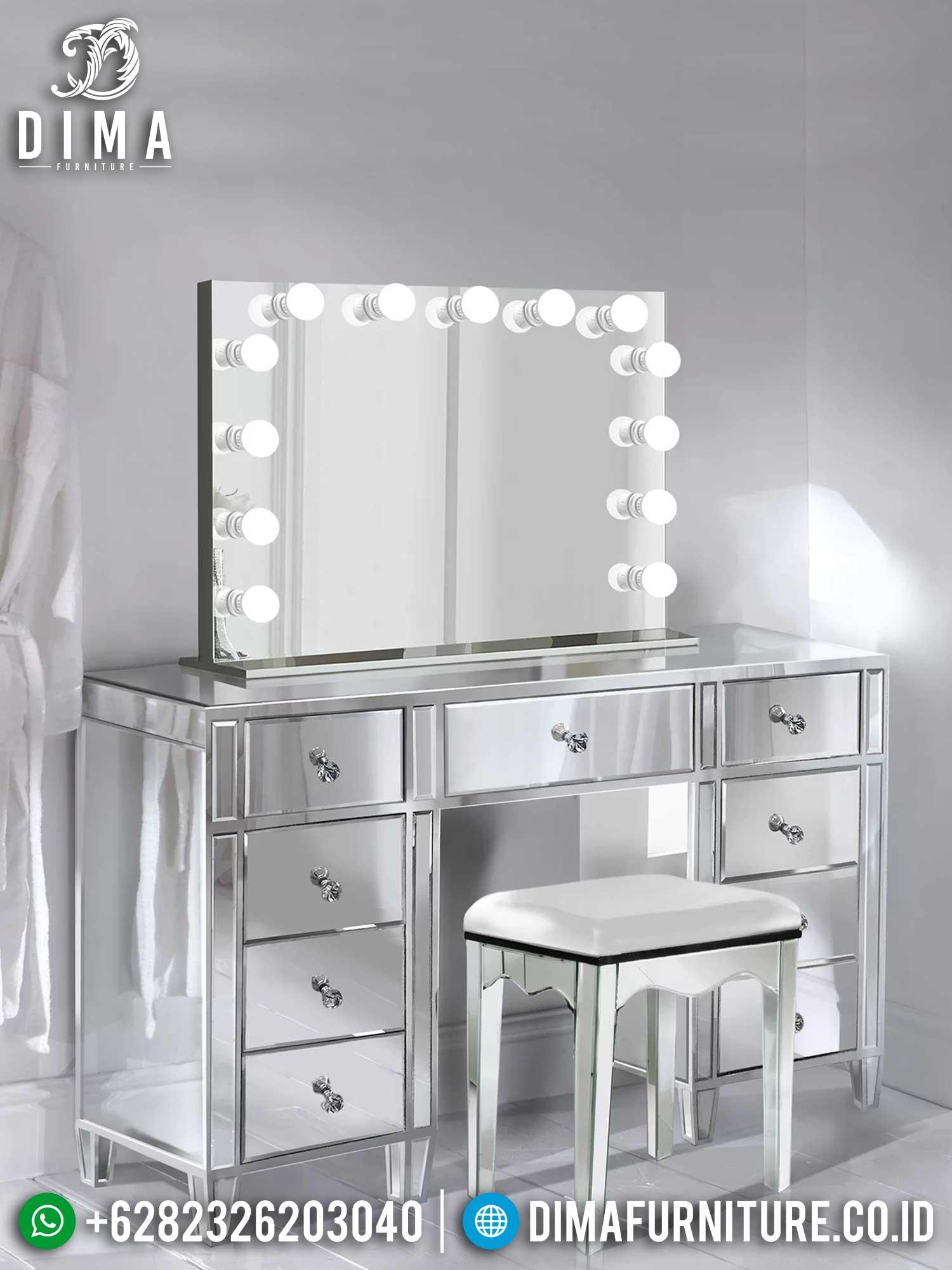Meja Rias Minimalis Terbaru Elegant Simple Design Furniture Jepara TTJ-1447