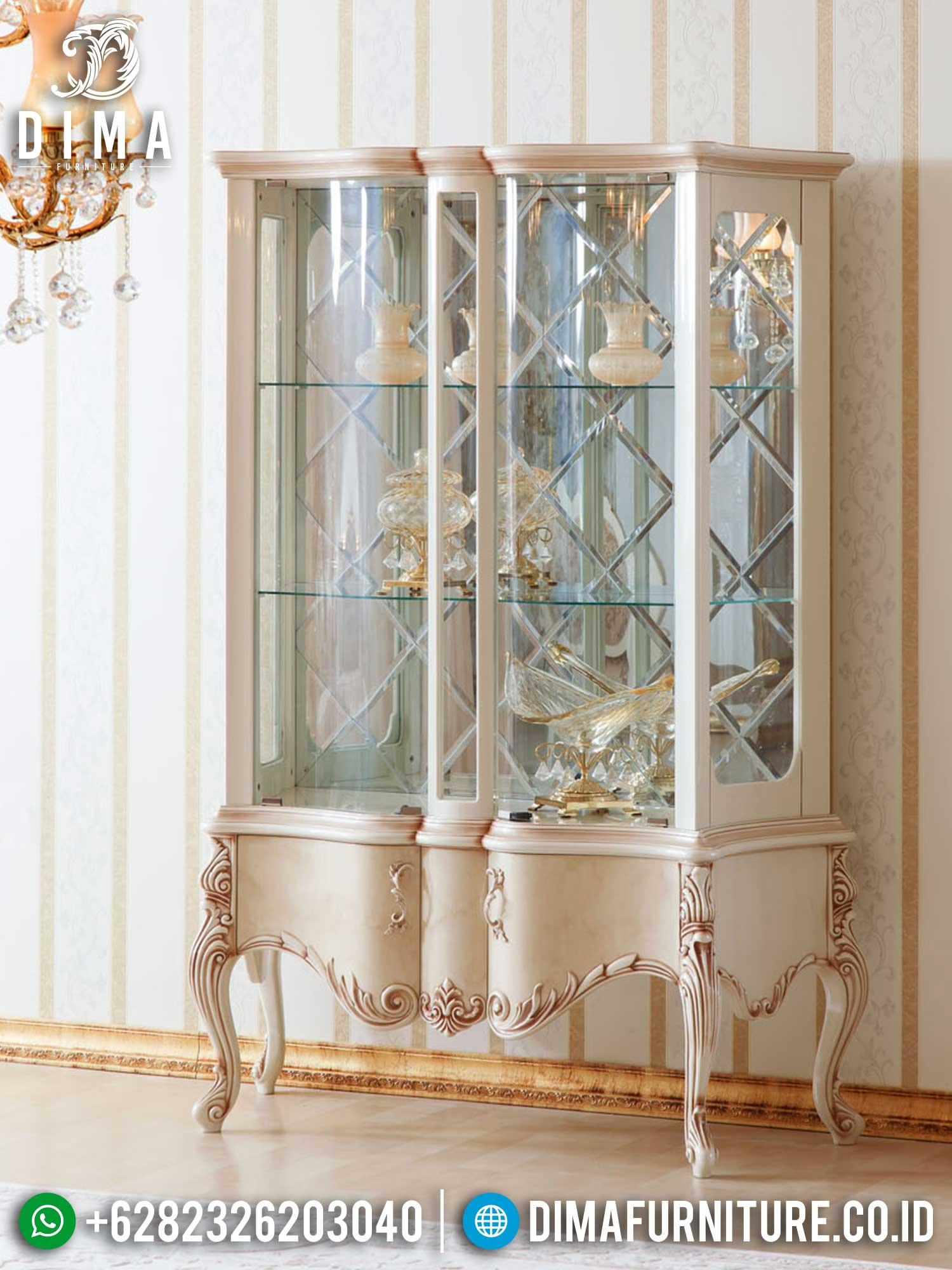 New Lemari Pajangan Mewah Kaca Luxury Classic Set Italian Style TTJ-1398