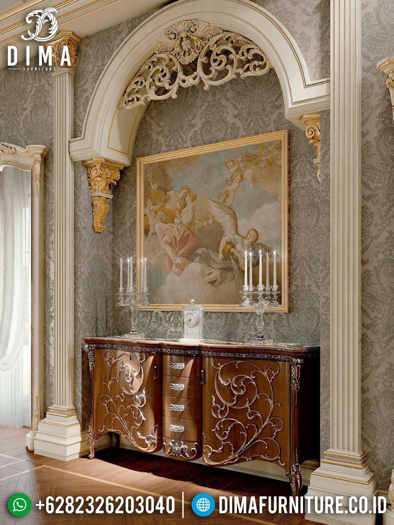 New Meja Konsul Mewah Kayu Jati Natural Classic Furniture Jepara Terupdate TTJ-1466