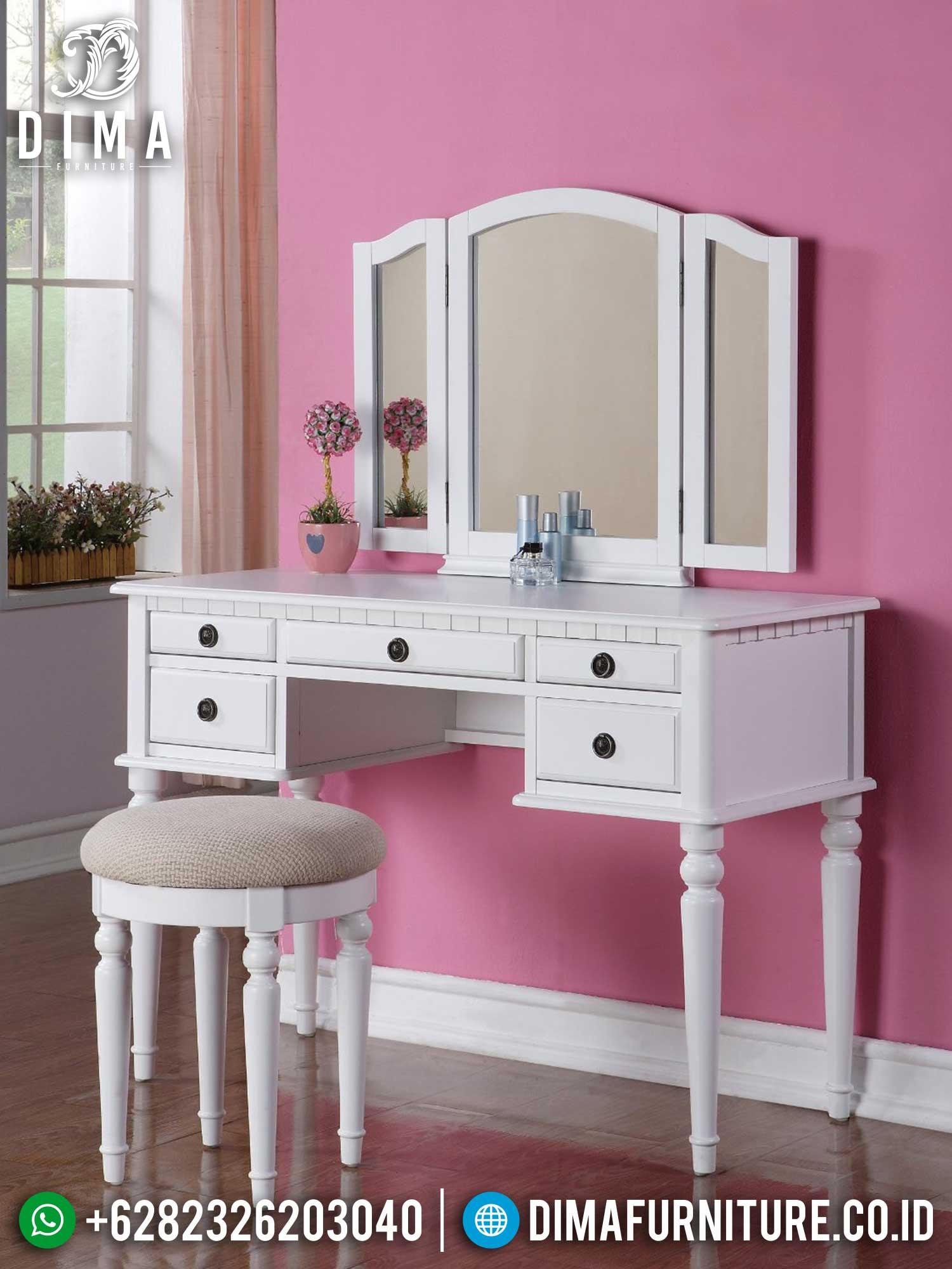 New Meja Rias Minimalis Putih Art Duco Best Quality Item TTJ-1411