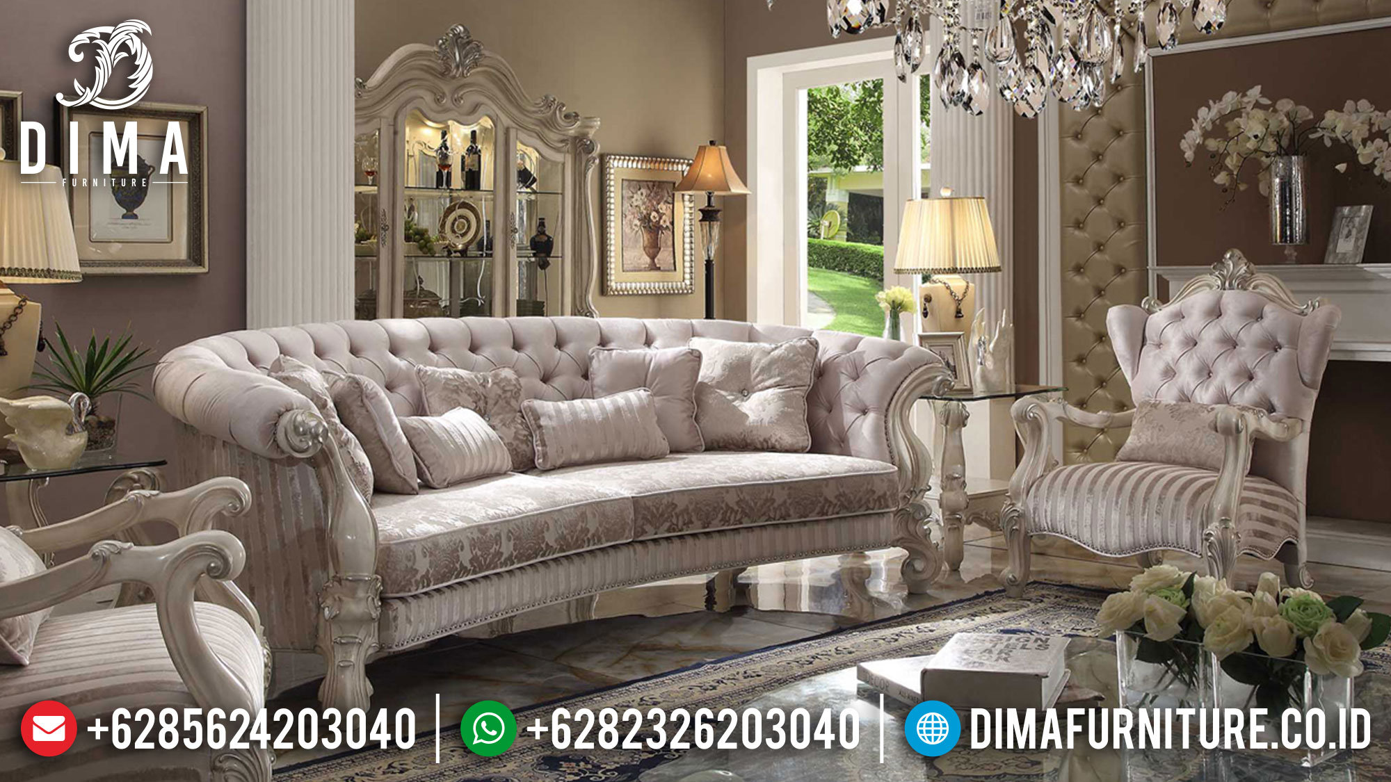 New Model Sofa Tamu Jepara Luxury Classic Carving Termewah TTJ-1540