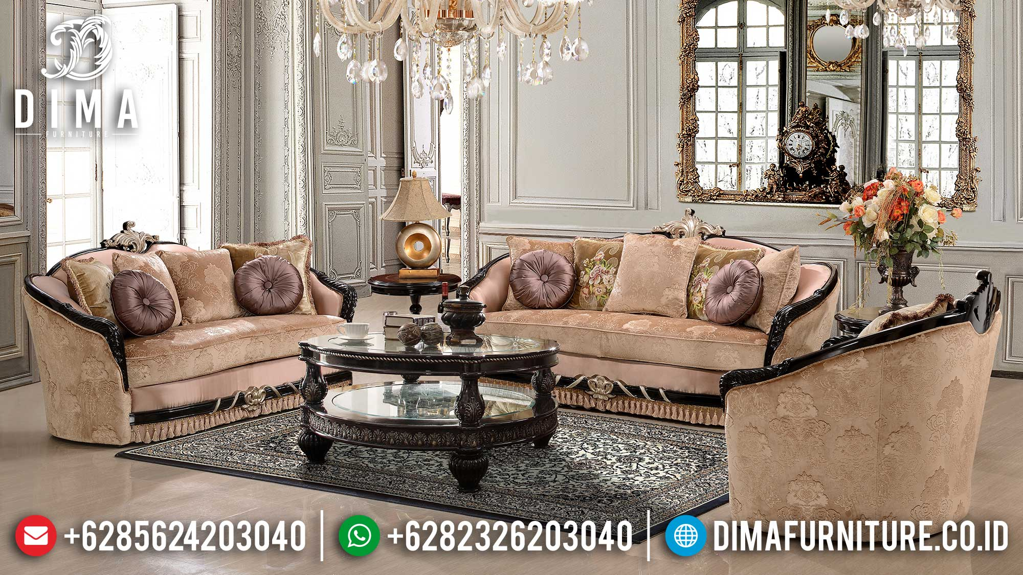 New Model Sofa Tamu Mewah Jepara Luxurious Premiere Classic Ttj-1526