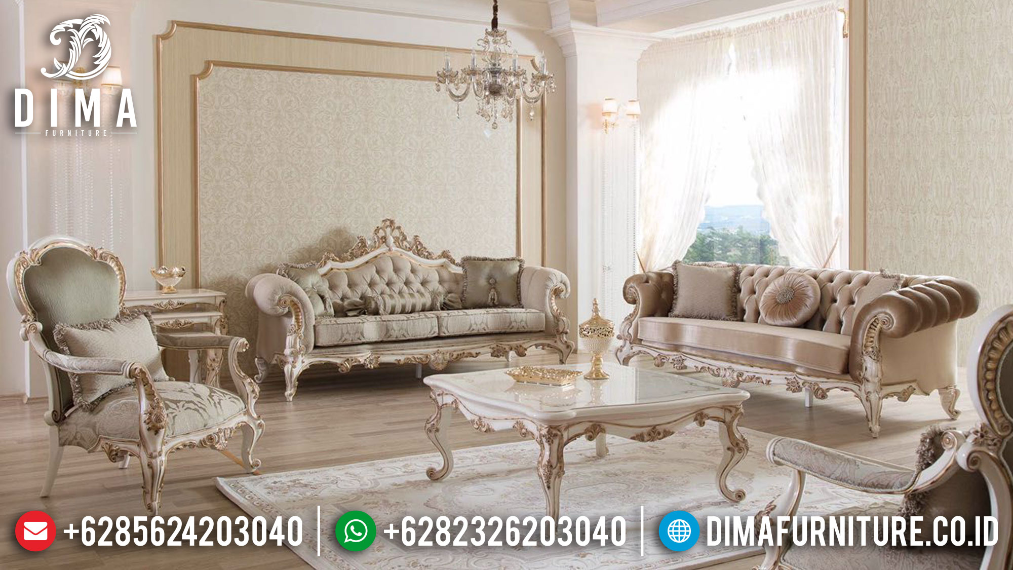 New Sofa Tamu Jepara Ukiran Classic Luxury Best Collection Furniture Jepara Ttj-1533