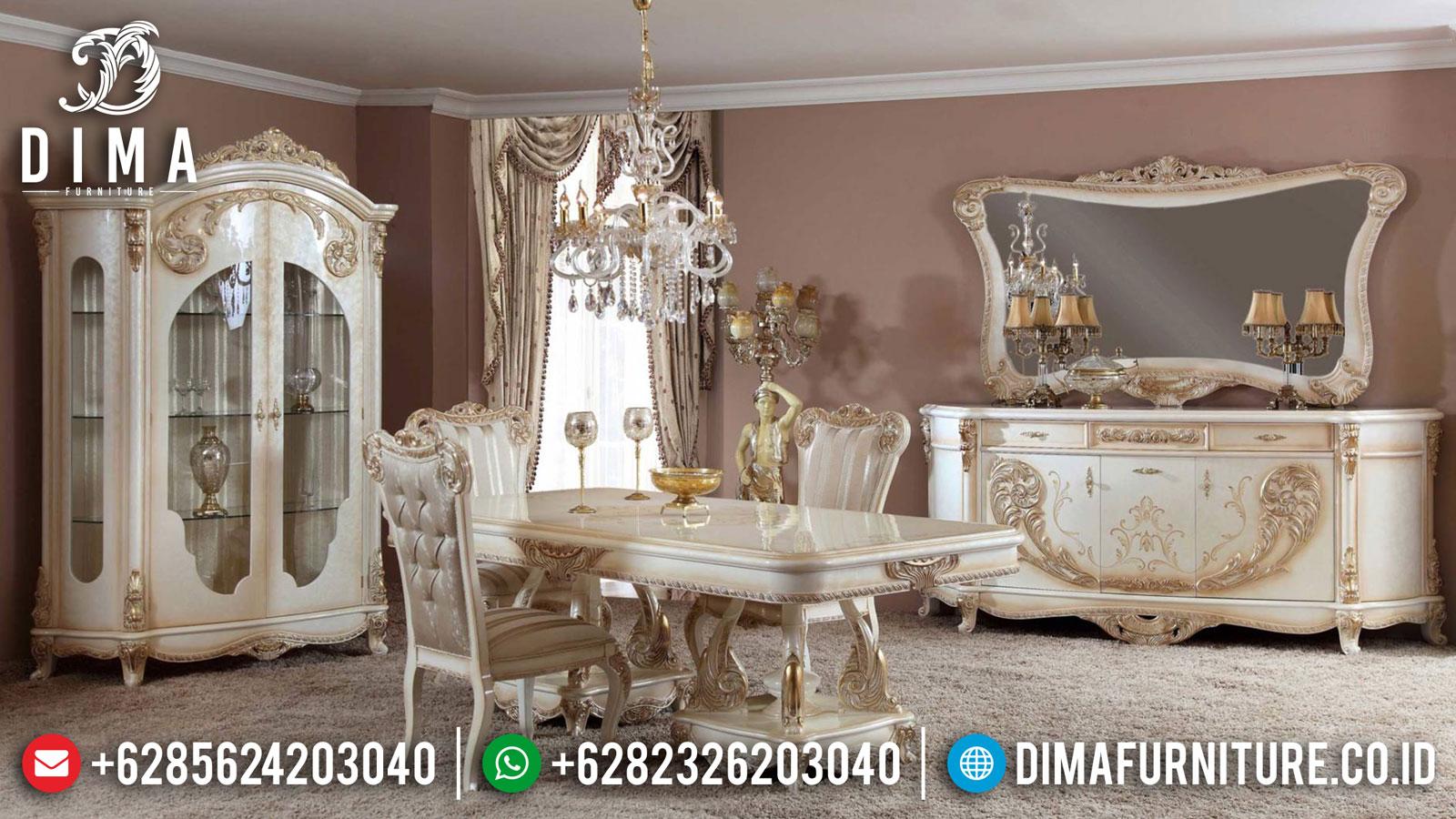 Set Meja Makan Mewah Ukir Jepara Luxury New Collection Furniture Jepara TTJ-1369