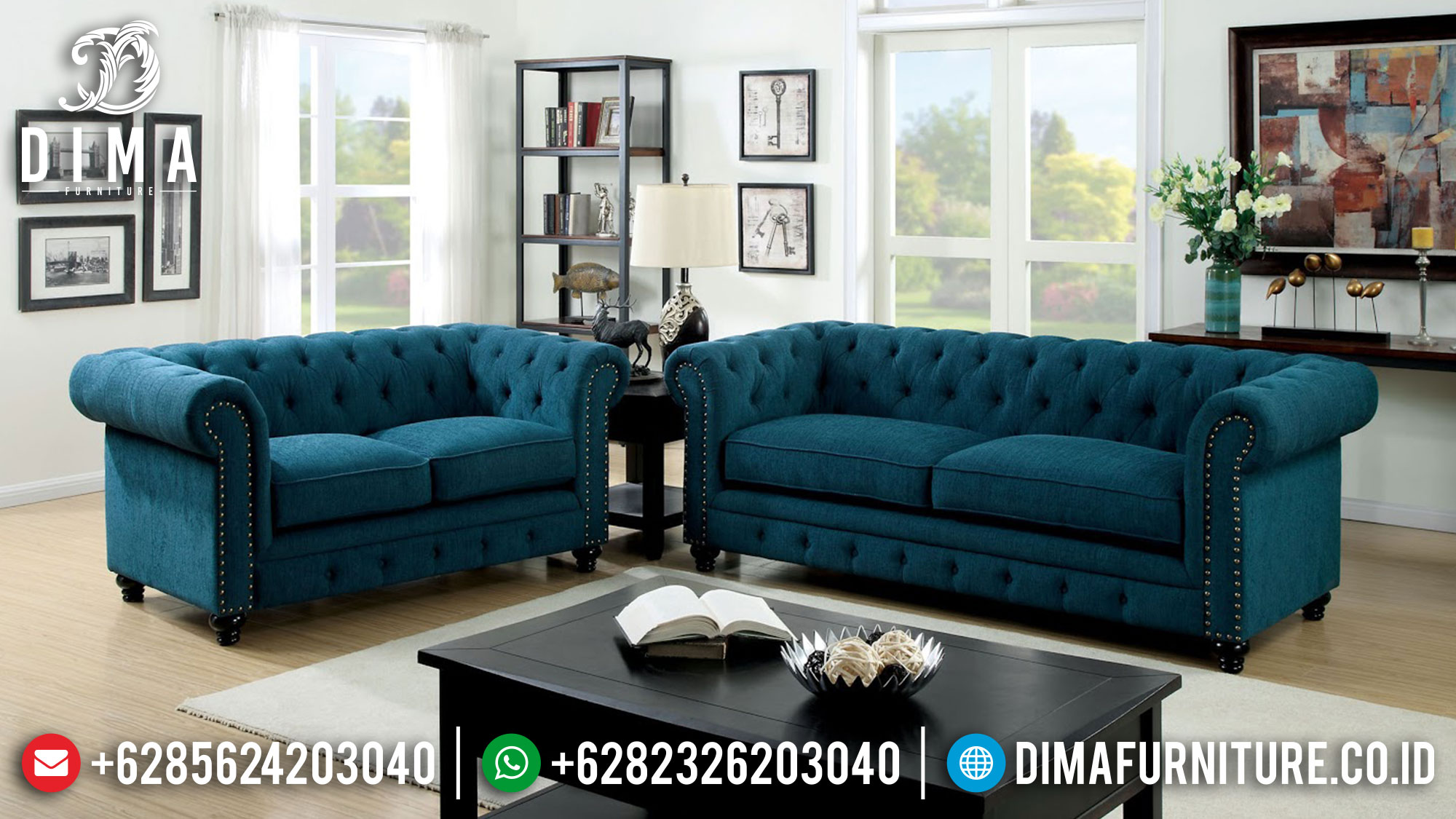 Sofa Chesterfield Set Sofa Tamu Minimalis Terbaru New Furniture Jepara Released Ttj-1475