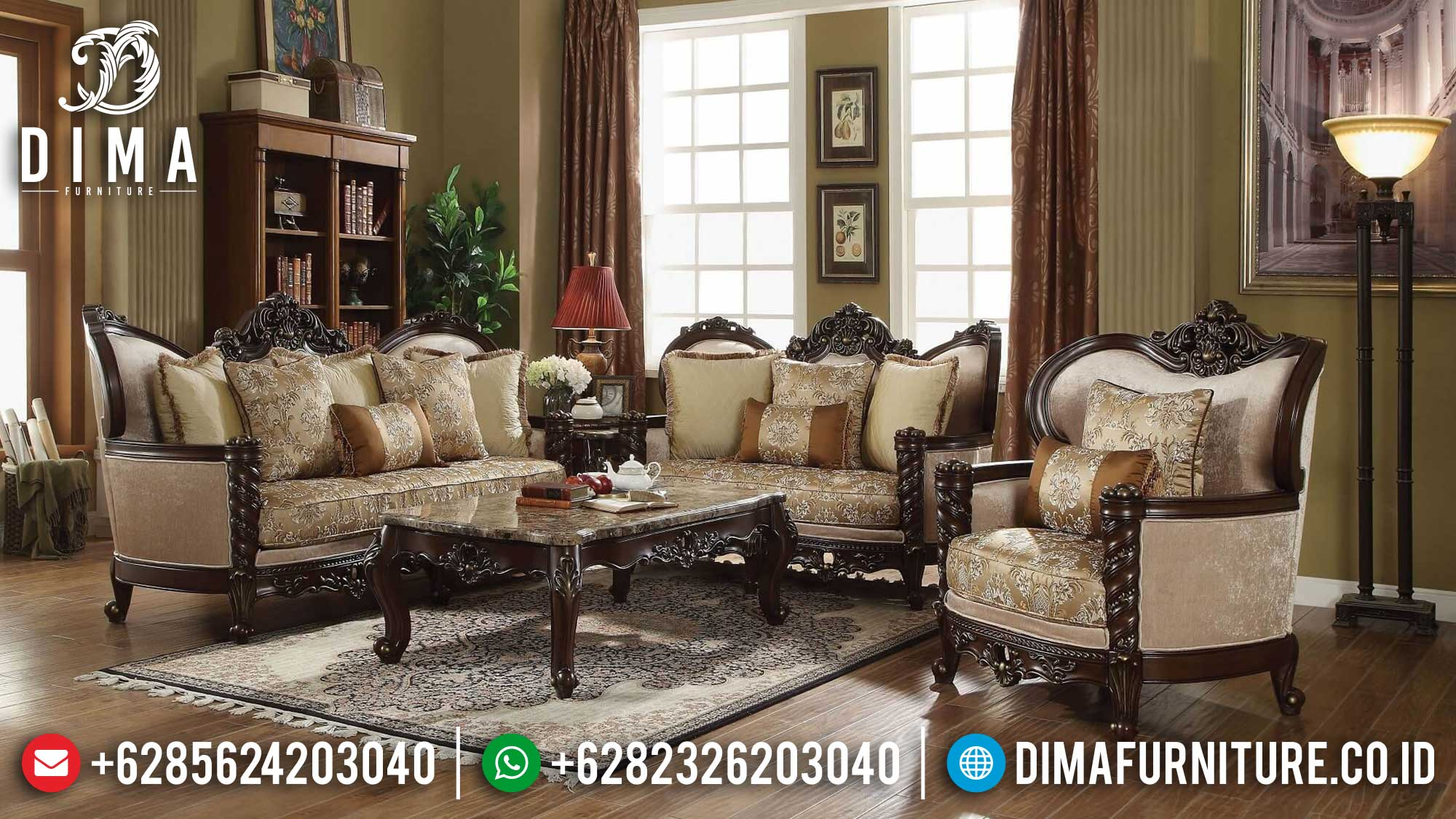 Sofa Tamu Mewah Ariana Luxury Set Premiere Design Classic TTJ-1519