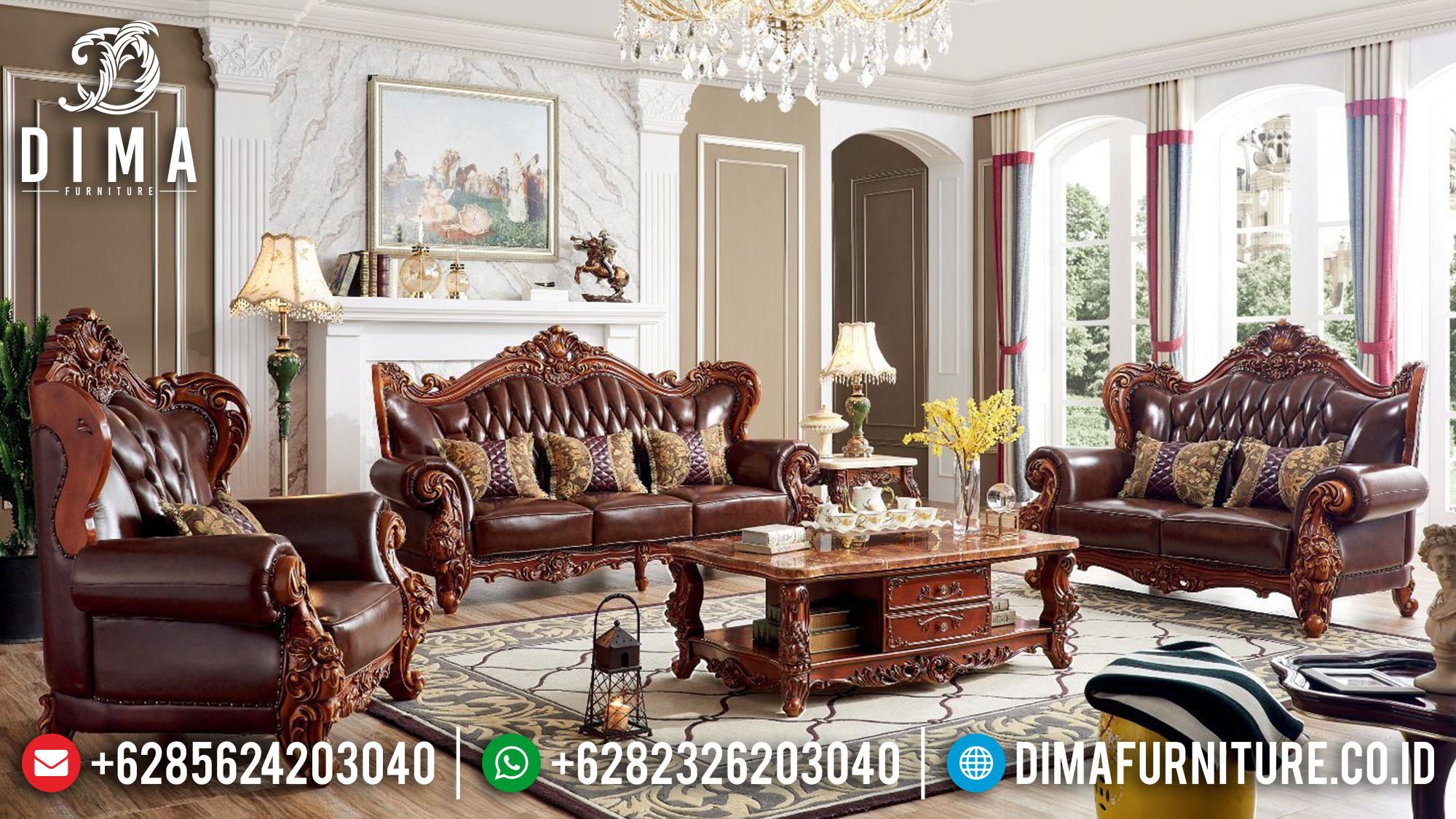 Sofa Tamu Mewah, Kursi Tamu Ukiran, Set Ruang Tamu Luxury Elegant Style TTJ-1525