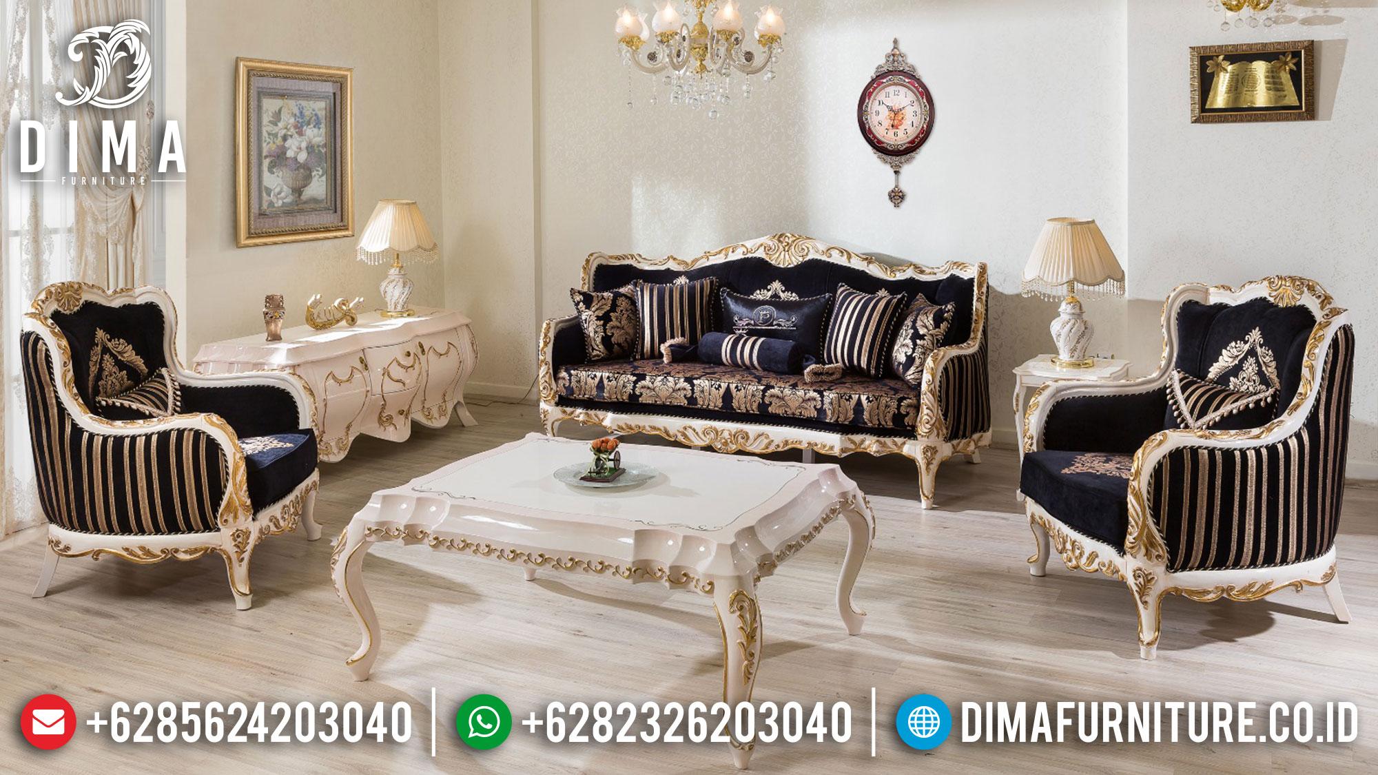 Sofa Tamu Mewah Luxury Classic Design Mebel Jepara Terbaru TTJ-1485