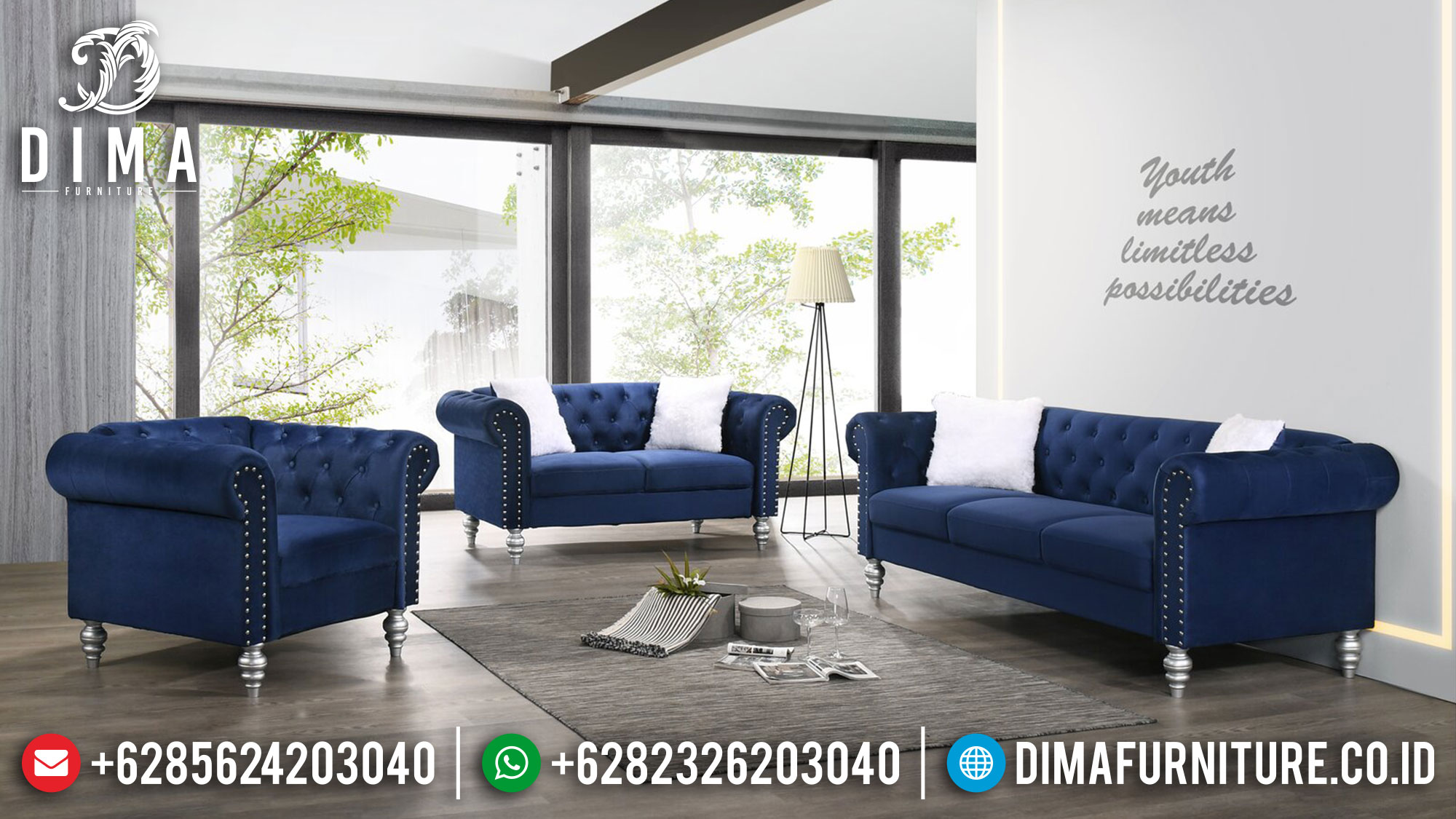 Sofa Tamu Minimalis Chesterfield Best Seller New Set 2021 Ttj-1473