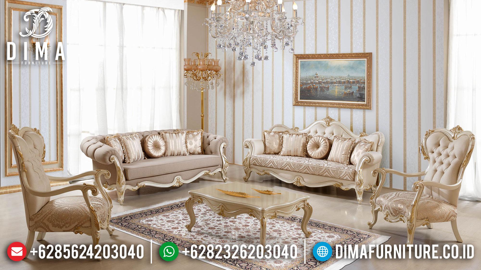 Sofa Tamu Ukir Jepara, Sofa Tamu Mewah Luxury, Kursi Sofa Tamu Jepara Elegant Style TTJ-1509