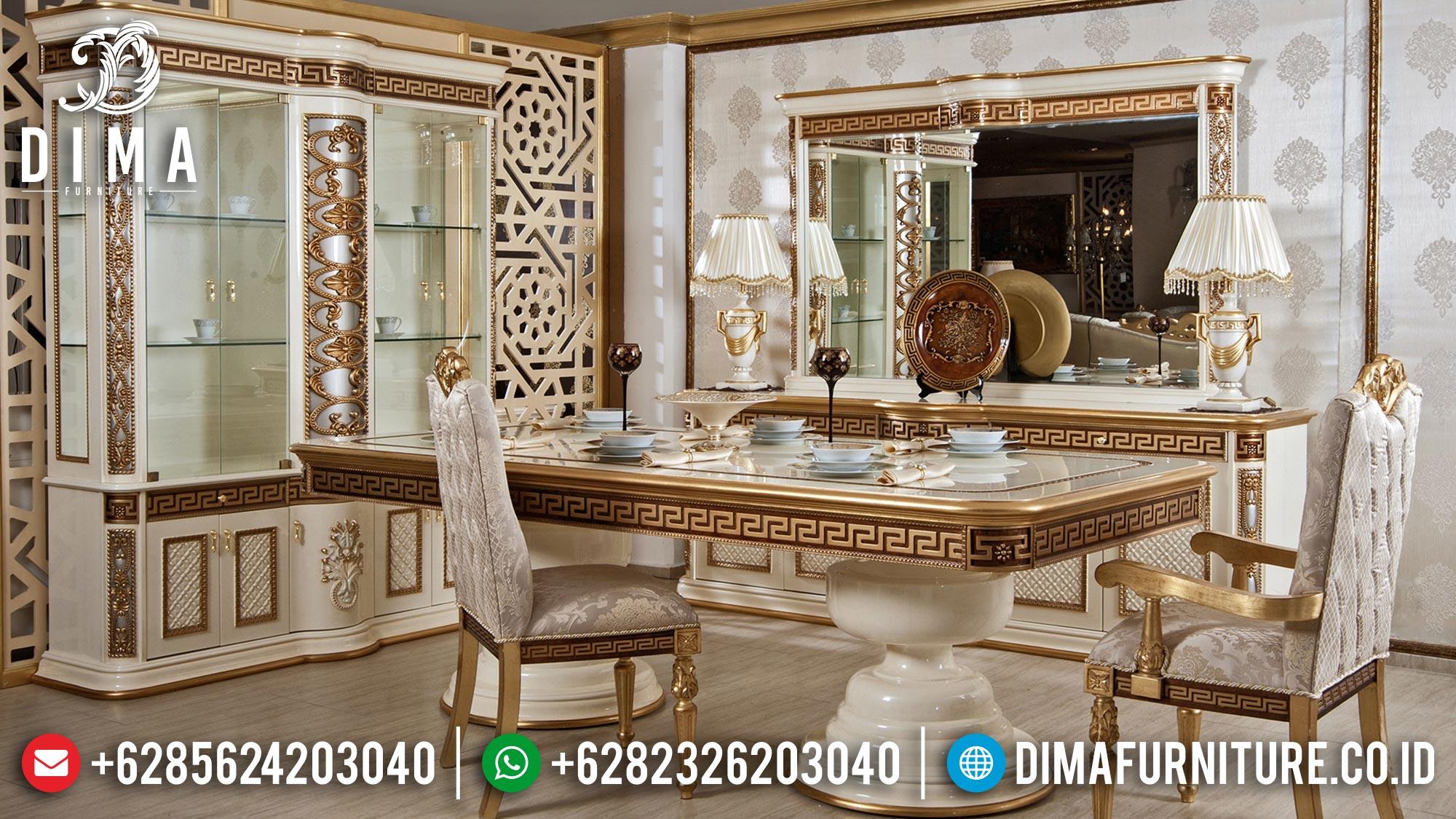 Black Friday Sale Meja Makan Mewah Terbaru New Furniture Jepara TTJ-1606