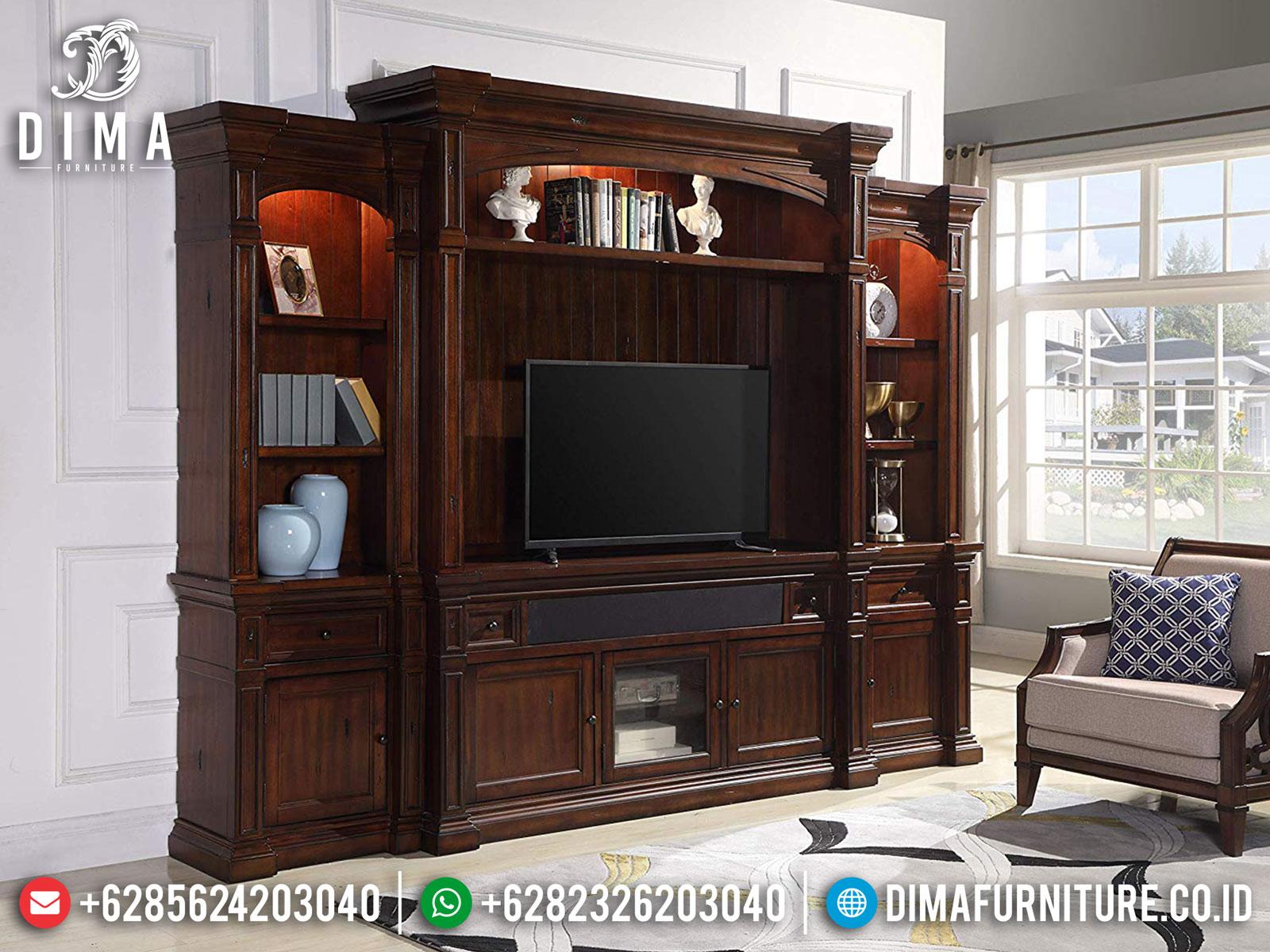 Bufet TV Minimalis Jati Classic Natural Salak Brown Luxury TTJ-1670