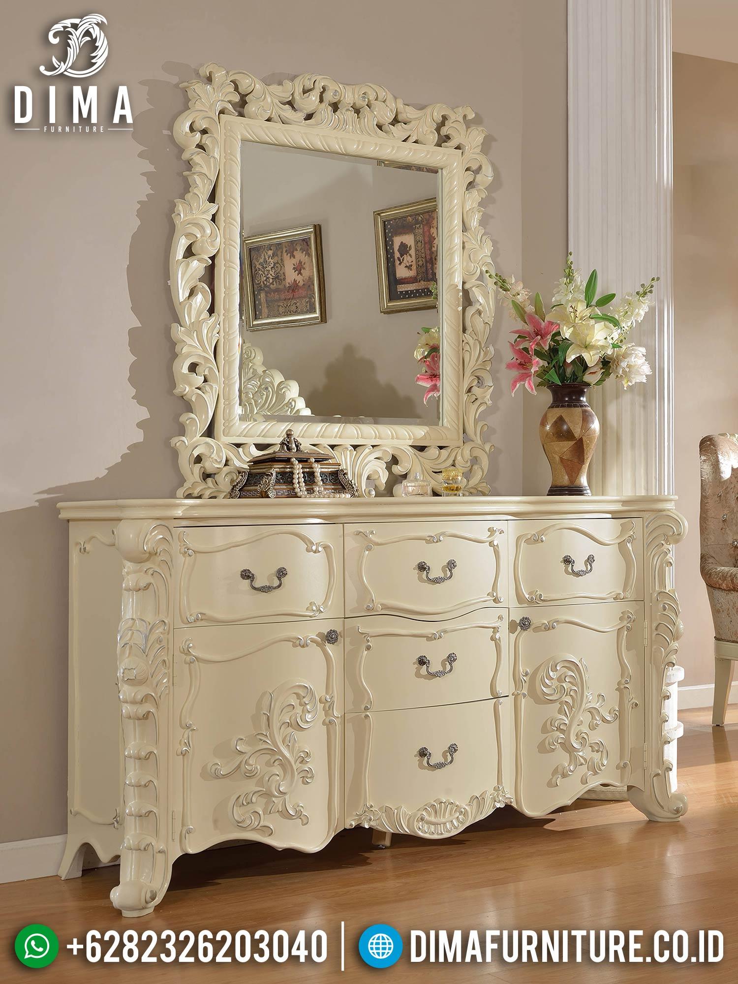 Cermin Hias Mewah Set Meja Konsol Ukir New Luxury Carving Jepara TTJ-1564