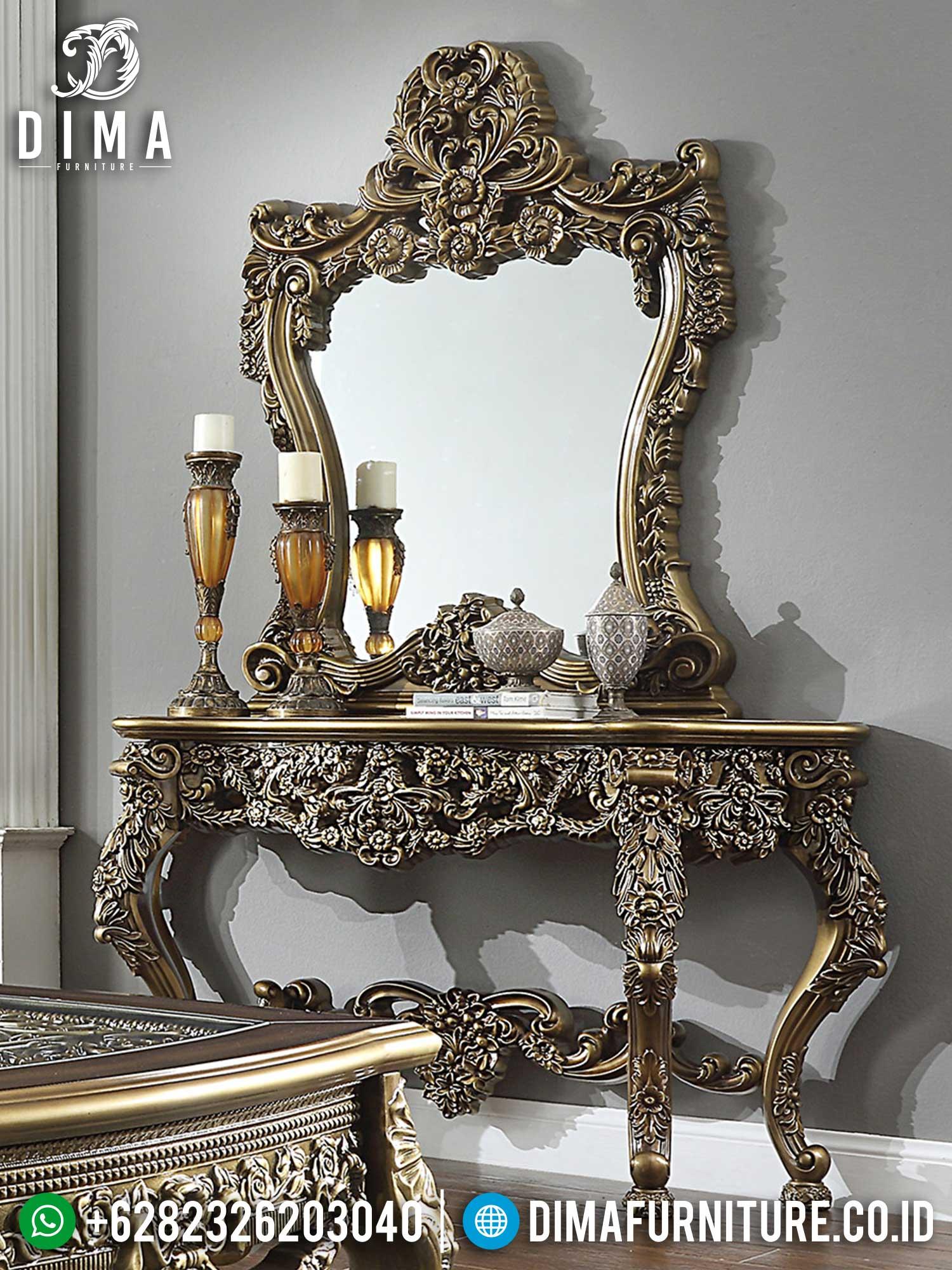 Cermin Hias Ukir & Meja Konsol Mewah Elegant Greatest Item TTJ-1570