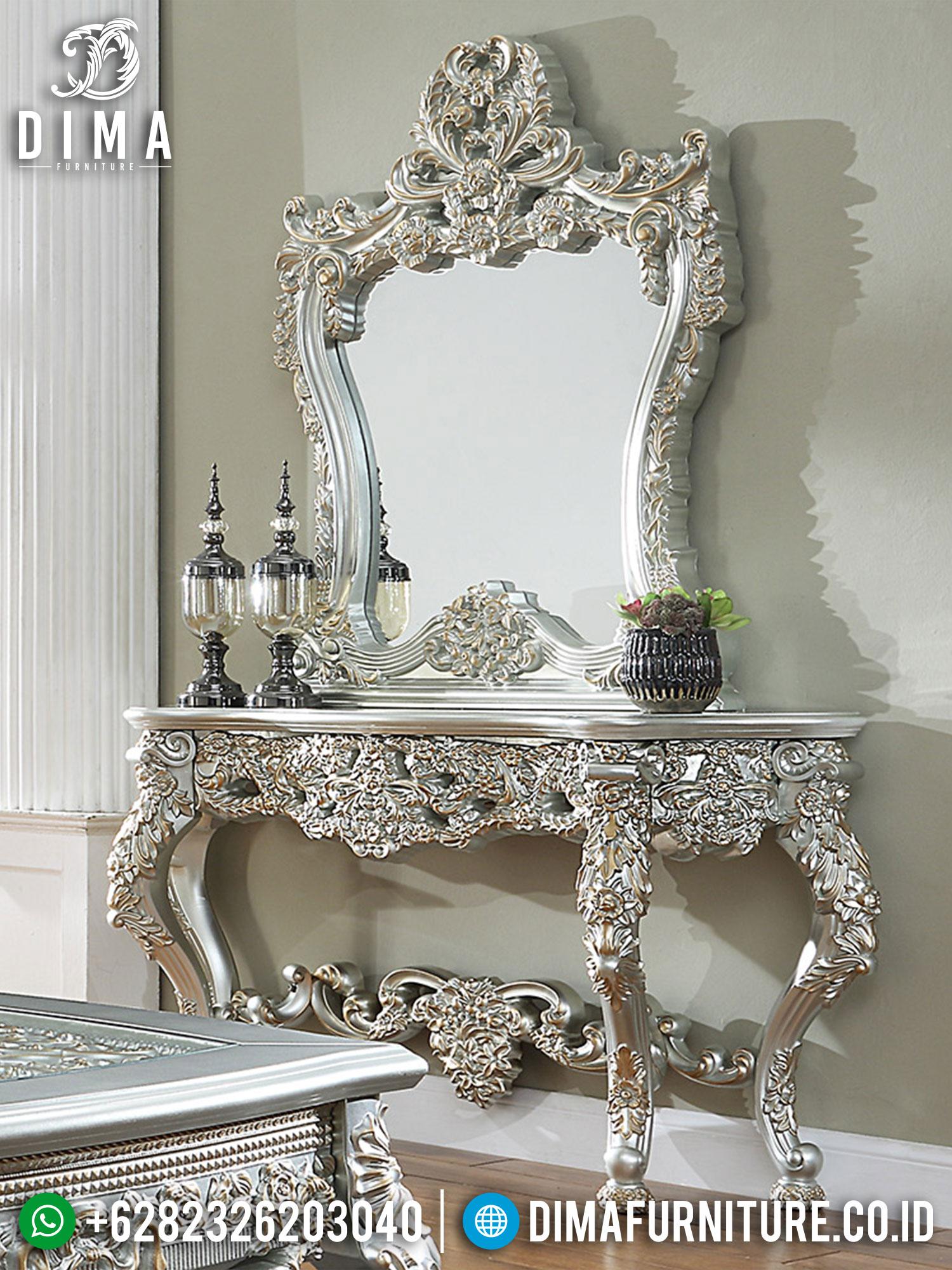 Desain Meja Konsol Mewah Luxurious Silver Excellent Duco Color TTJ-1571