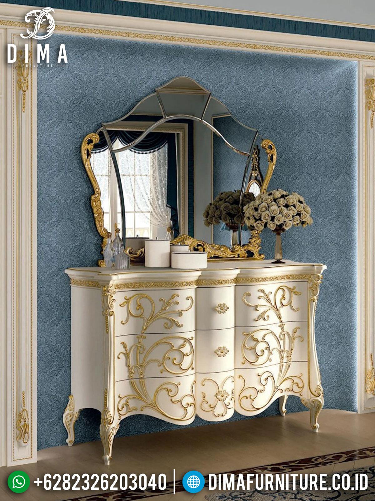 Desain Meja Konsul Mewah Classic Luxury Elegant Duco Color Glossy TTJ-1553