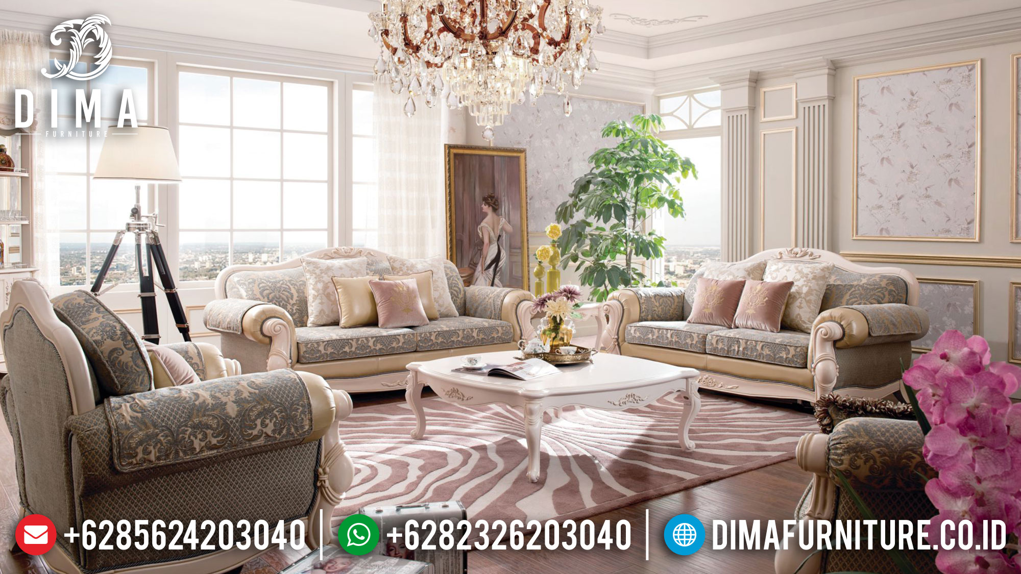 Elegant Set Sofa Tamu Mewah Jepara Best Seller Item TTJ-1624