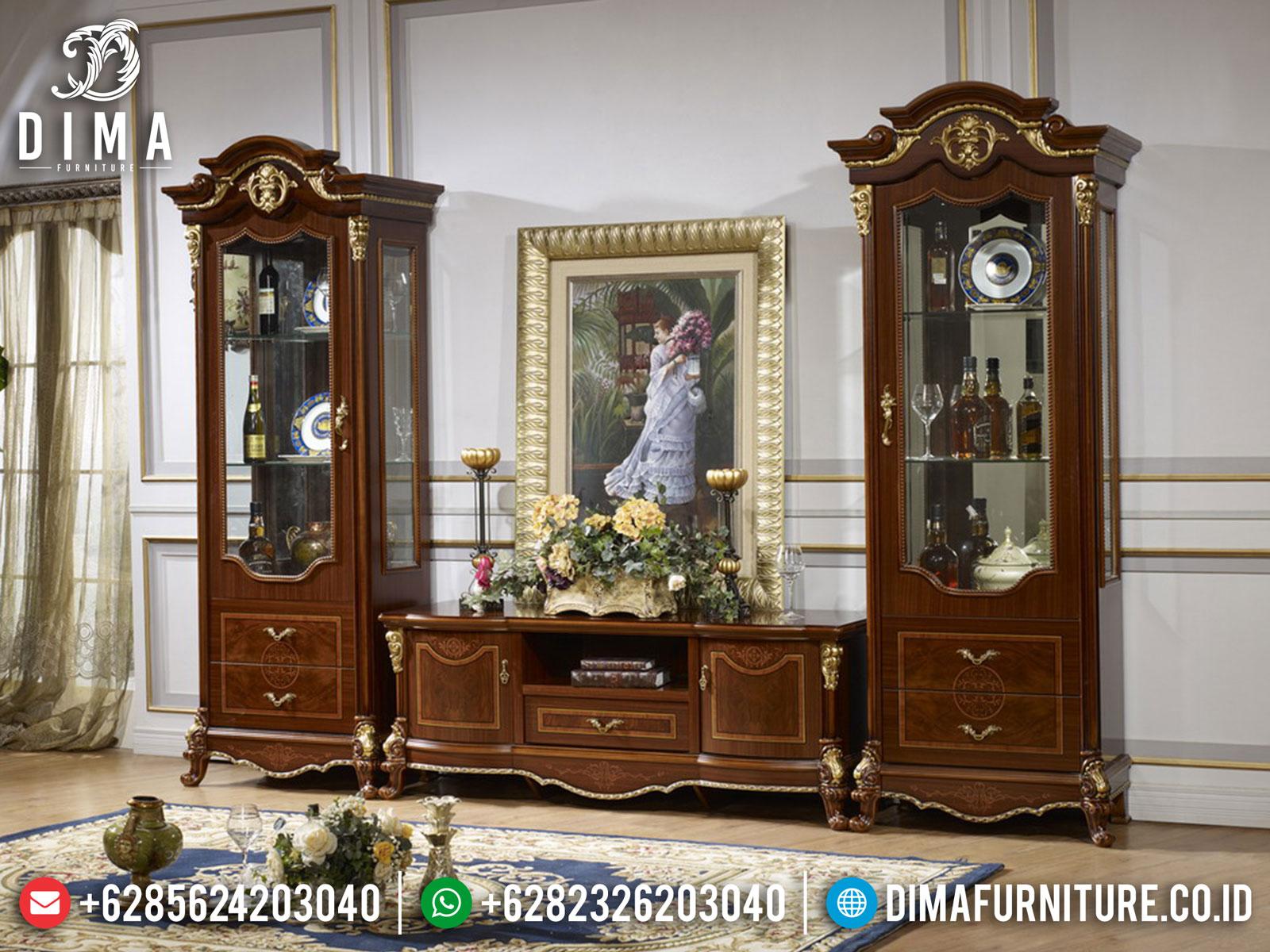 Epic Set Meja TV Mewah, Bufet TV Ukir Jepara Luxury Style TTJ-1655