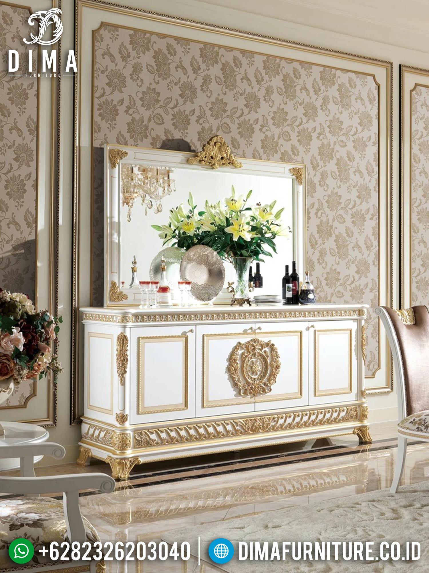 Greatest Meja Konsul Mewah Set Luxury Carving Jepara TTJ-1556