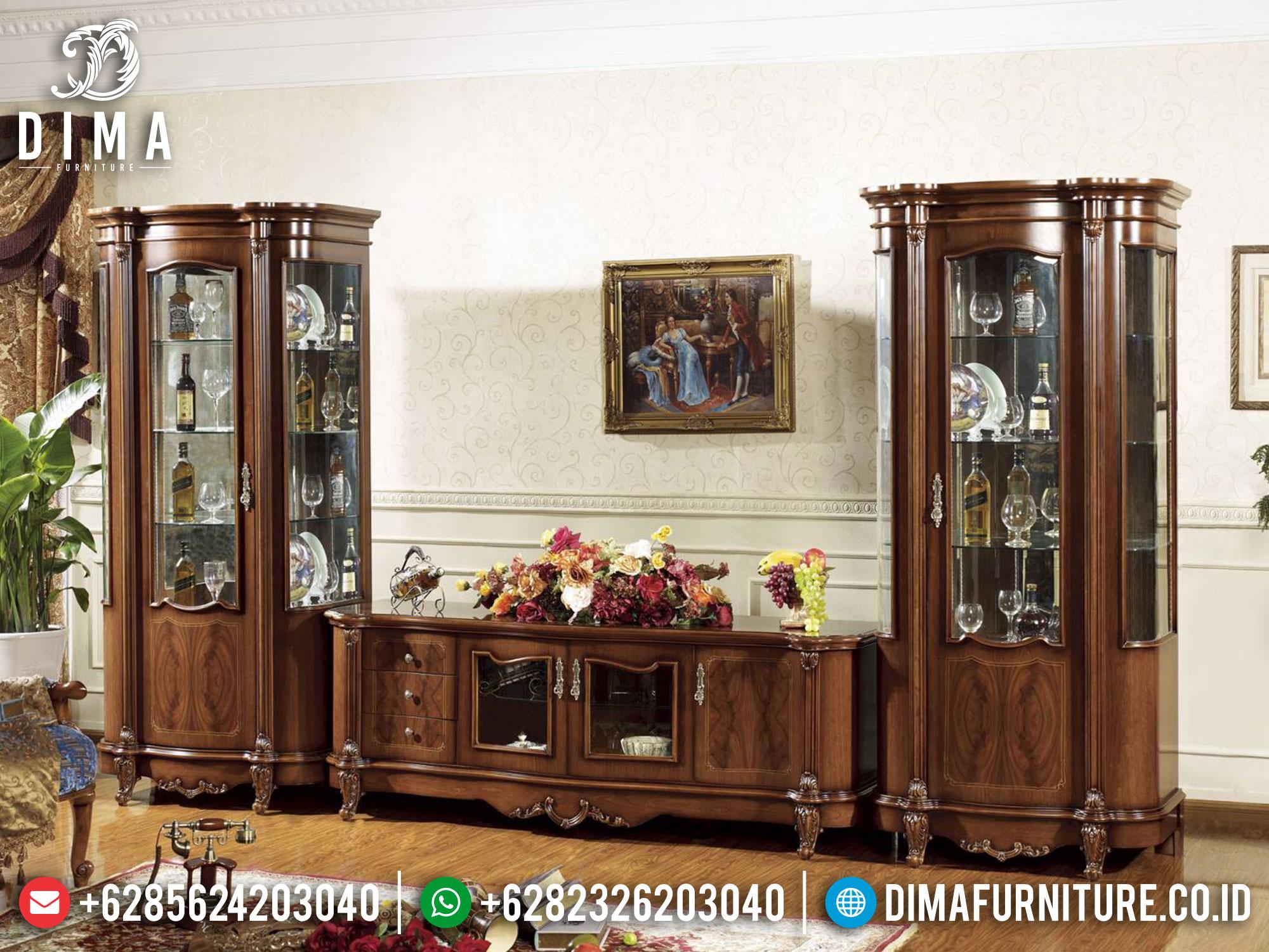 Harga Bufet TV Mewah Jepara Natural Jati Luxury Carving TTJ-1658
