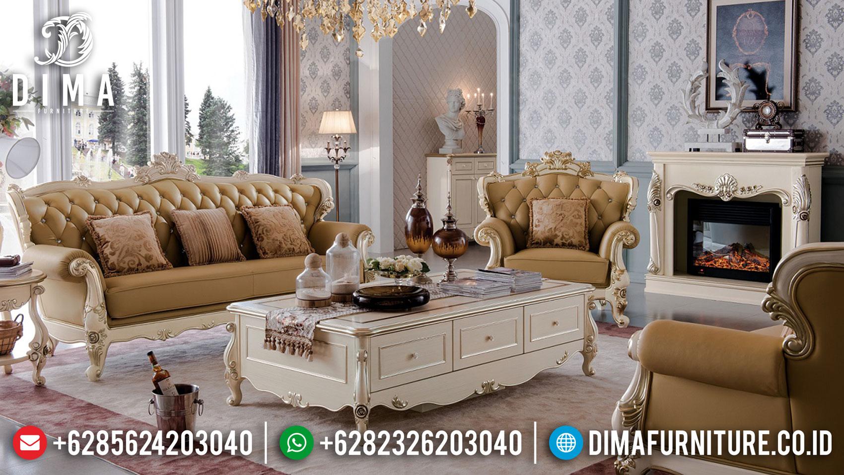 Harga Sofa Tamu Mewah Jepara Terbaru Luxurious Elegant Duco Color TTJ-1618