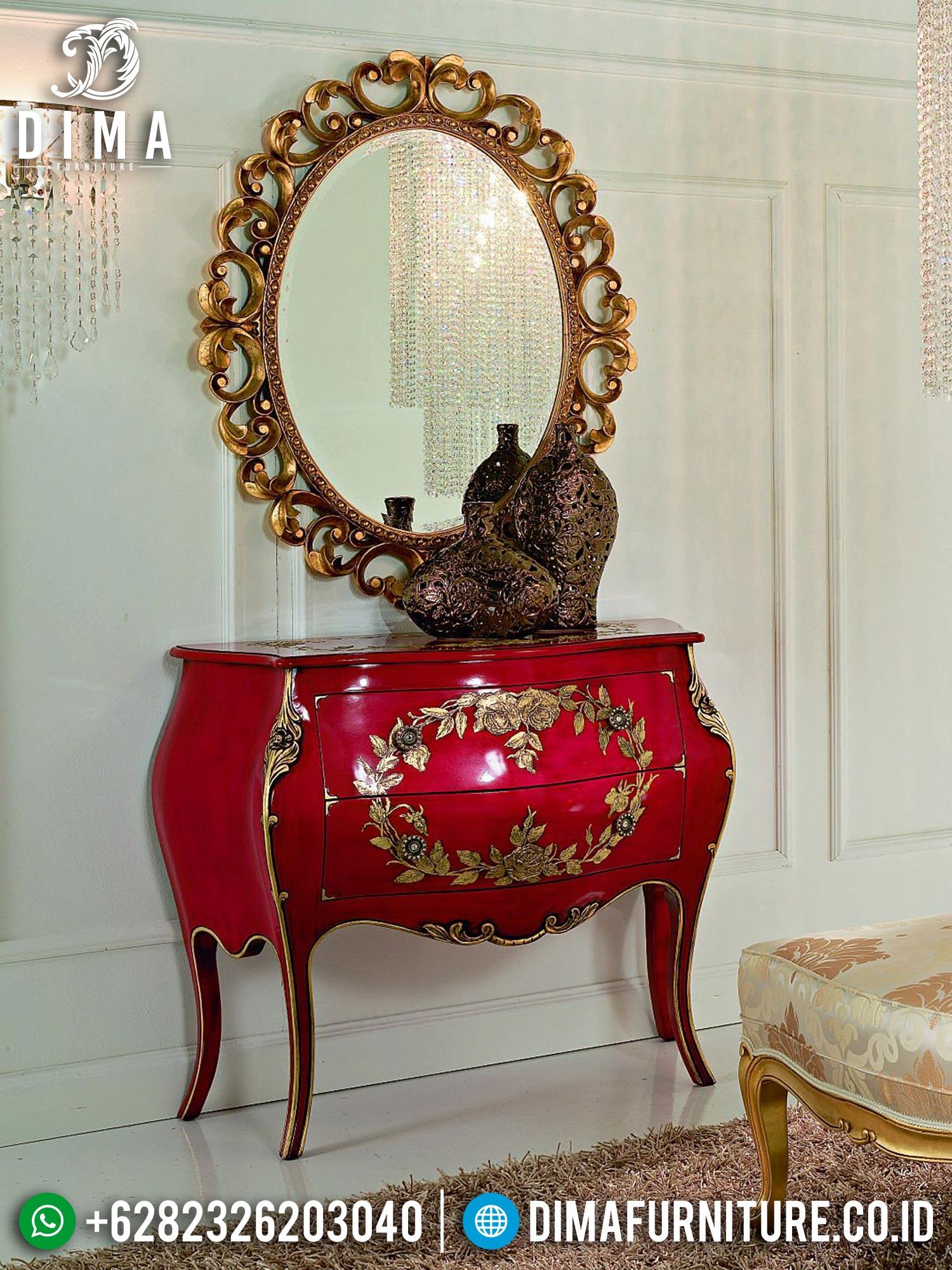 Hilarious Desain Meja Konsul Mewah Jepara Elegant Red Duco Color TTJ-1557