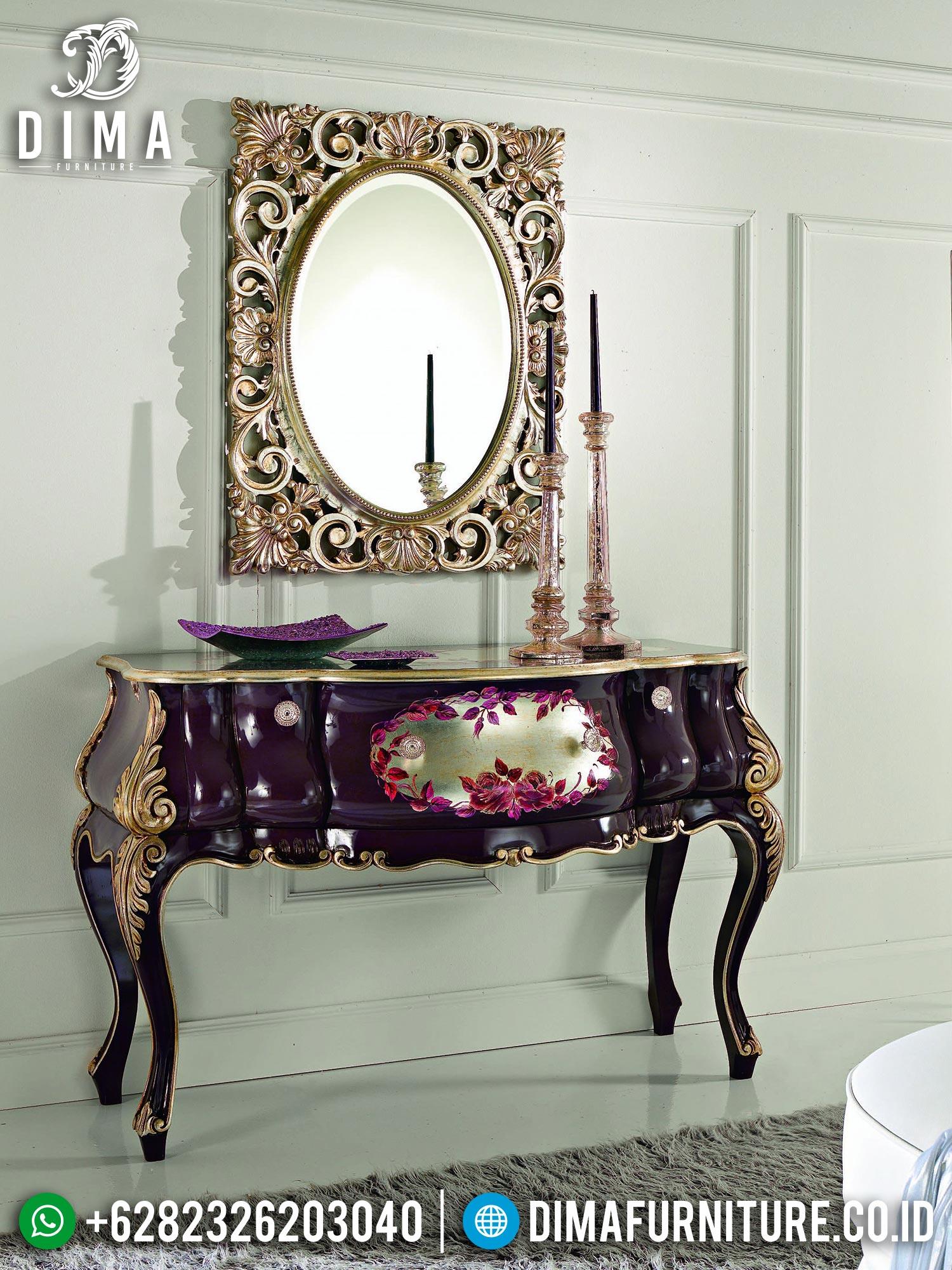 Incredibly Luxury Meja Konsul Mewah Ukiran Jepara Art Duco Luxury Color TTJ-1558