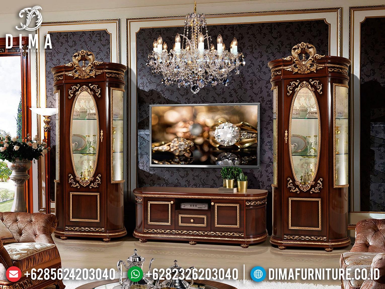 Jual Bufet TV Mewah Jepara Classic Jepara Luxury New Design TTJ-1650