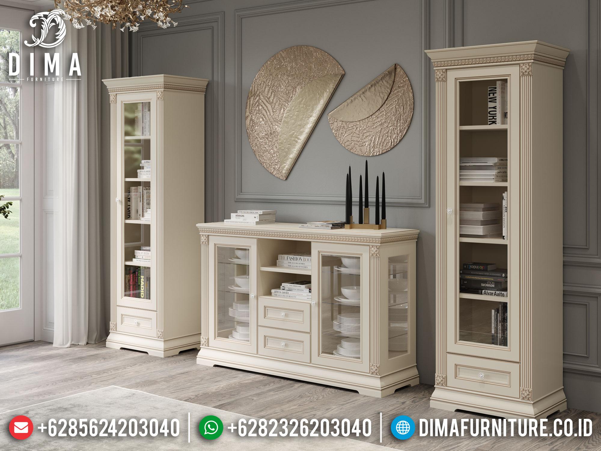 Jual Bufet TV Putih Duco Luxury Classic Style High Quality TTJ-1640
