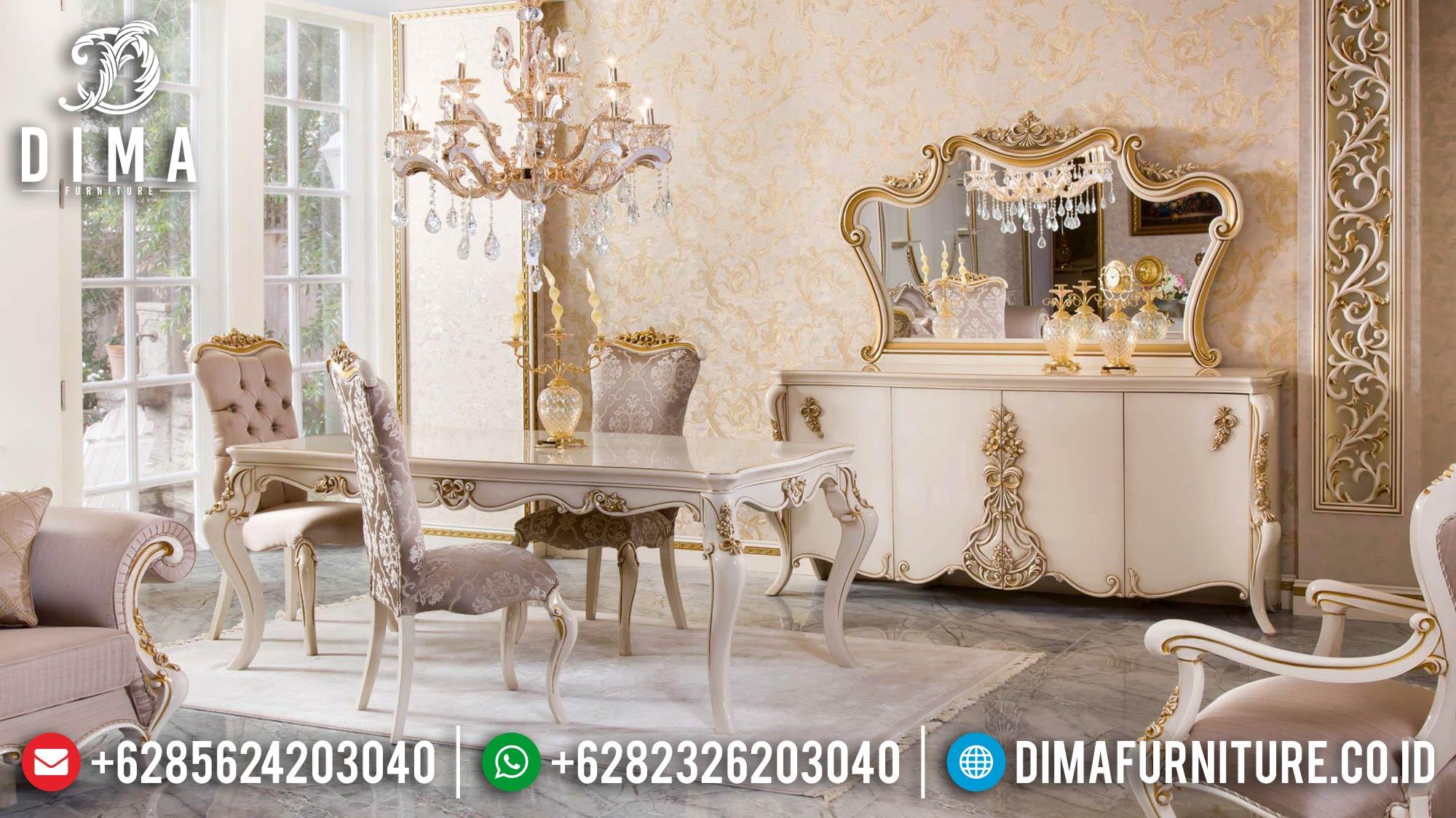 Jual Meja Makan Mewah Ukir Jepara Greatest Style Luxury Carving TTJ-1596