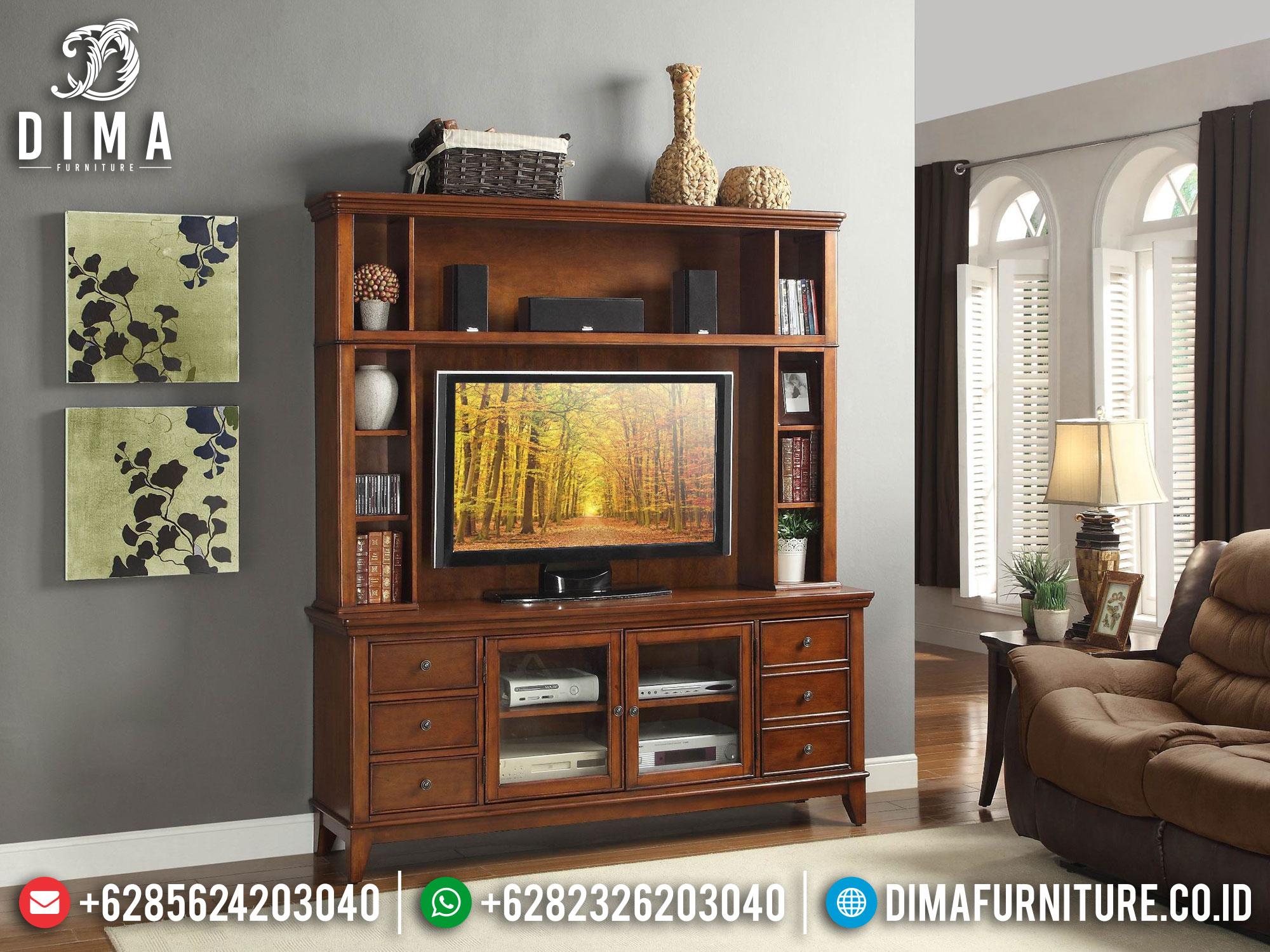 Lemari Hias Jati Natural Set Bufet TV Minimalis Classic Best Seller TTJ-1678