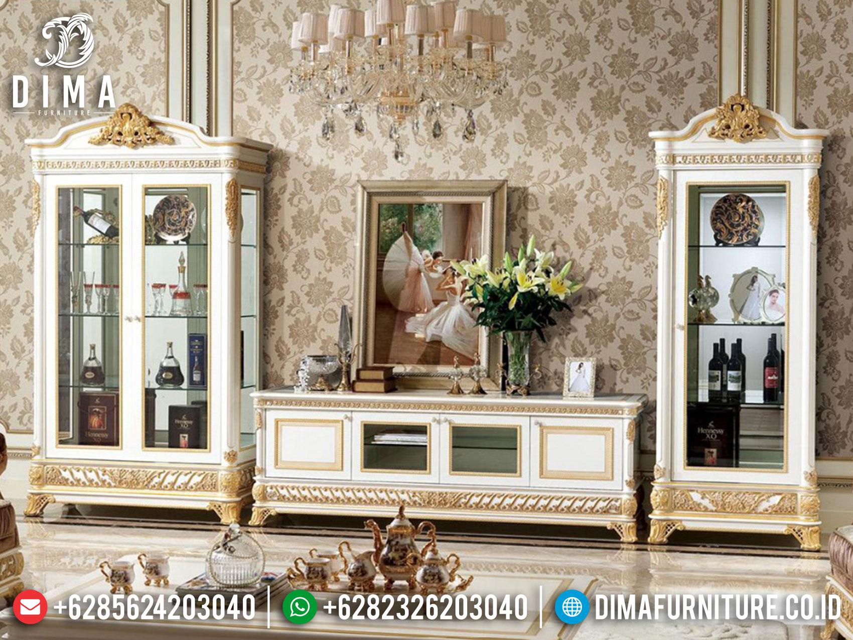 Luxury Model Bufet TV Mewah Ukir Jepara Sale Special Ramadhan TTJ-1663