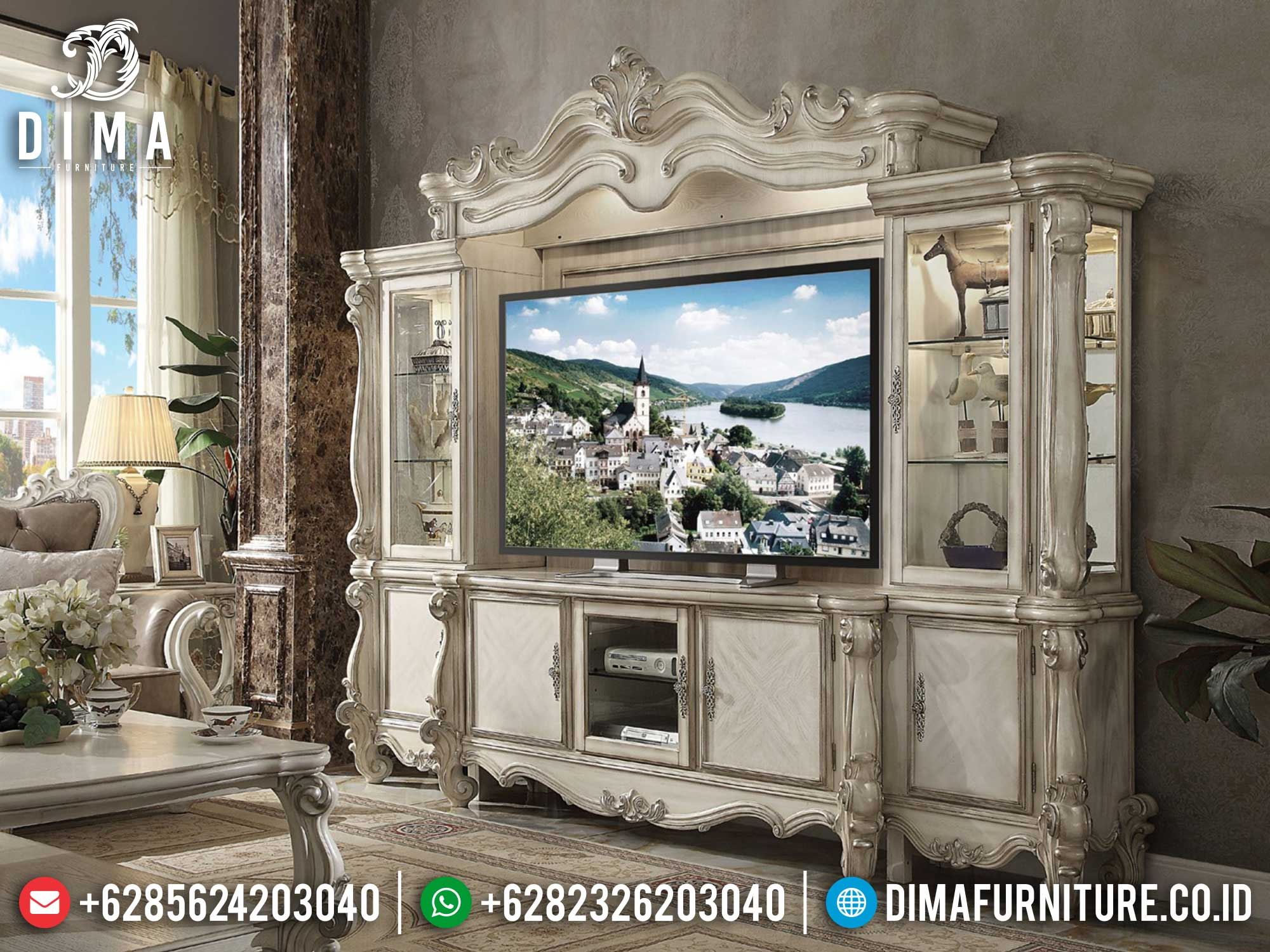 Majestic Style Bufet TV Ukiran Luxury High Quality Item Furniture Jepara TTJ-1664