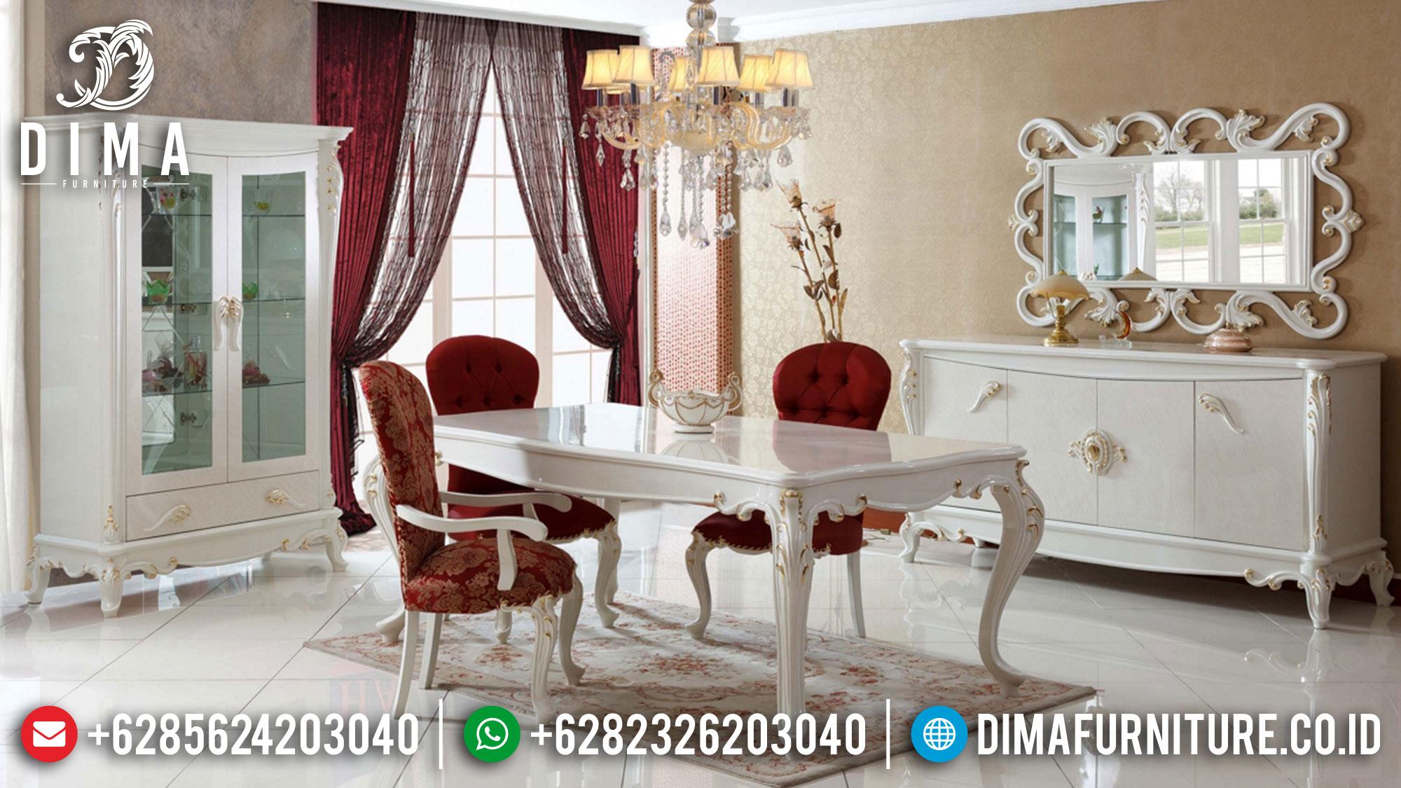 Meja Makan Mewah Classic Elegant Style New Furniture Jepara TTJ-1611