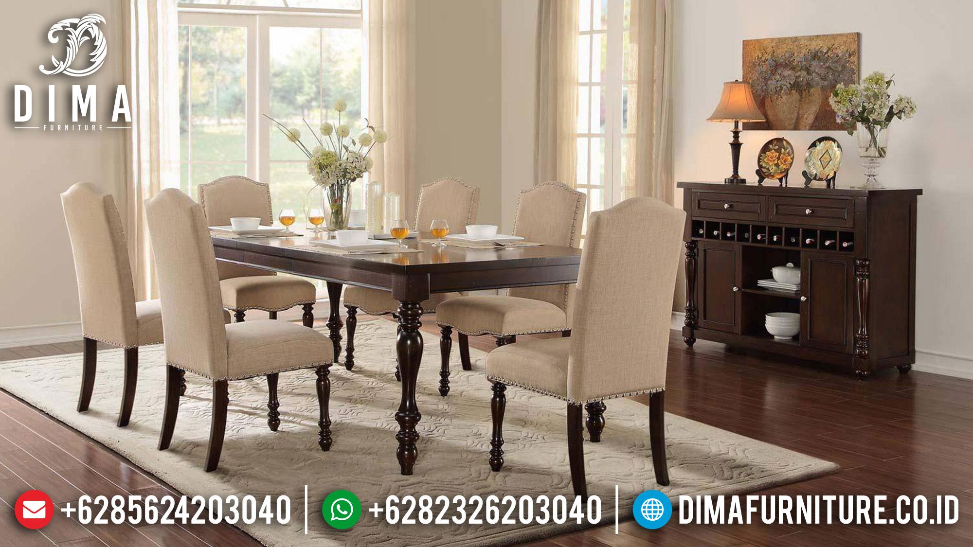 Meja Makan Minimalis Jepara Luxury Simple Elegant Design TTJ-1586