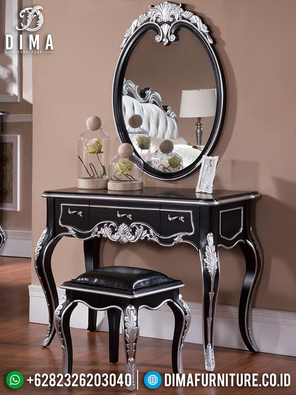 Meja Rias Mewah Jepara Luxury Carving Black Edition Color Ttj-1541